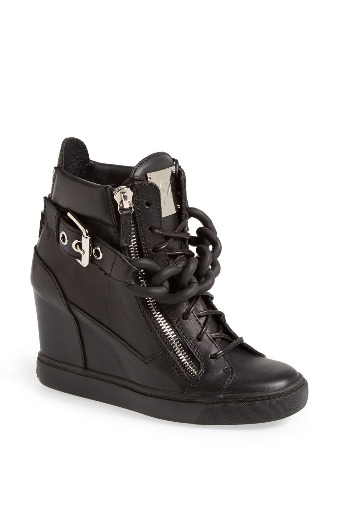 Alternate Image 1 Selected - Giuseppe Zanotti High Top Wedge Sneaker