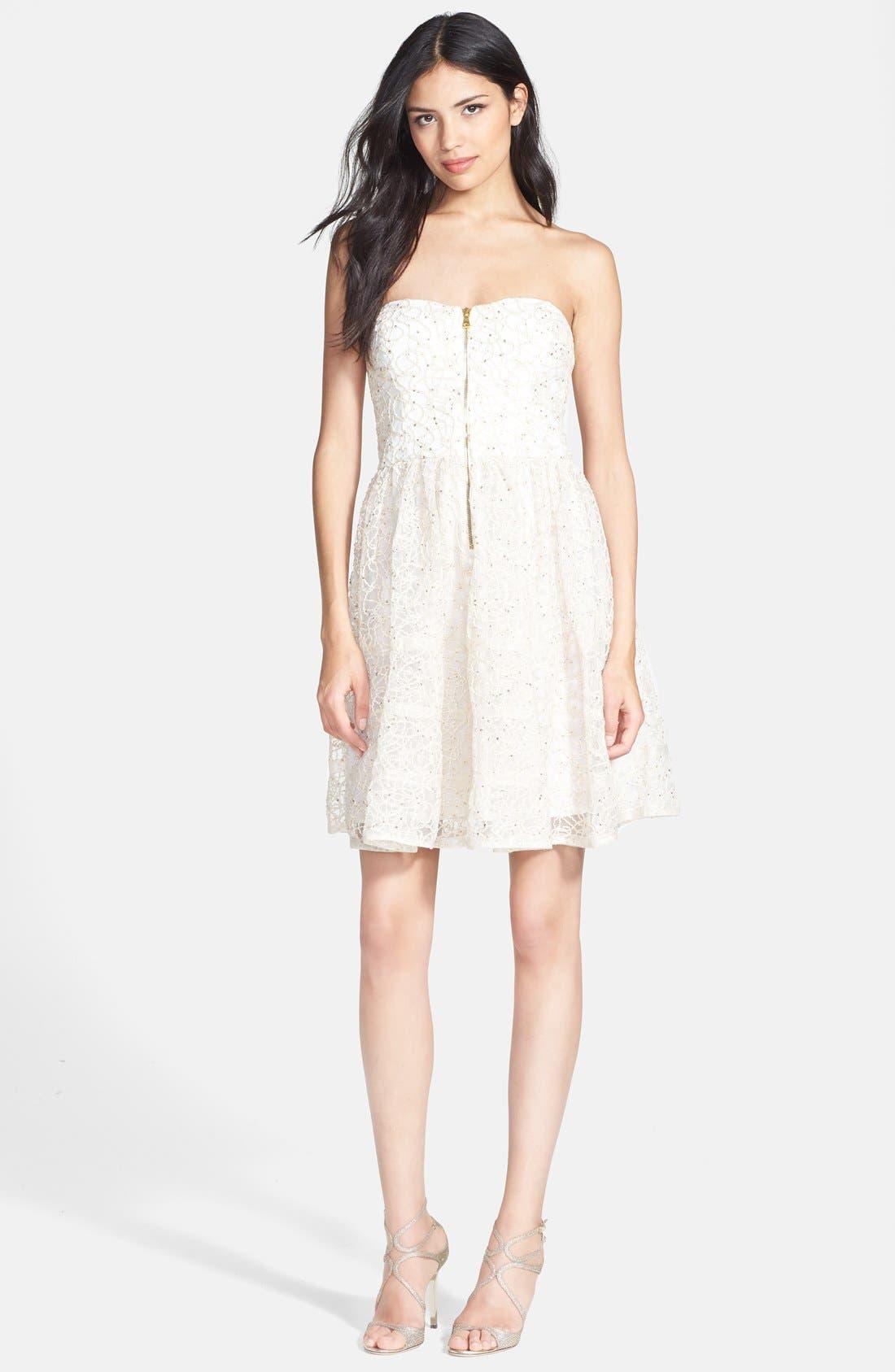 Alternate Image 3  - Betsey Johnson Strapless Fit & Flare Dress