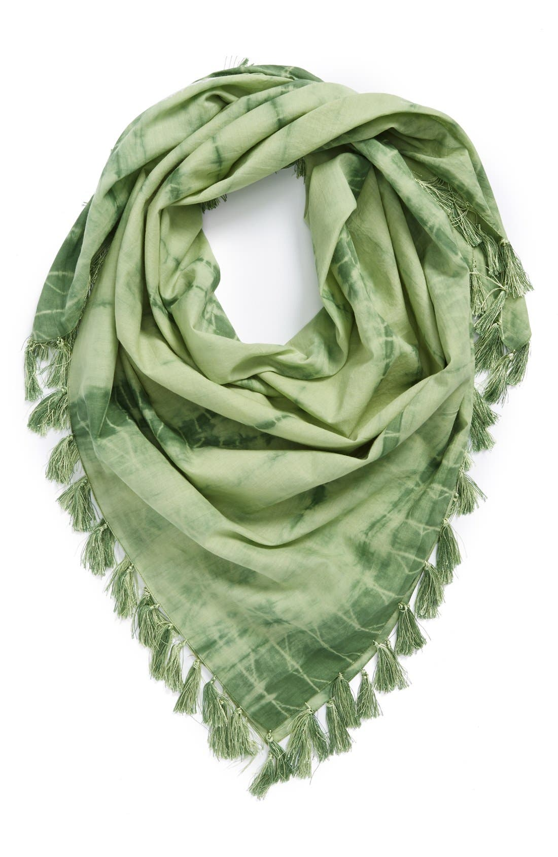 Main Image - Renee's Accessories Tie Dye Tassel Scarf