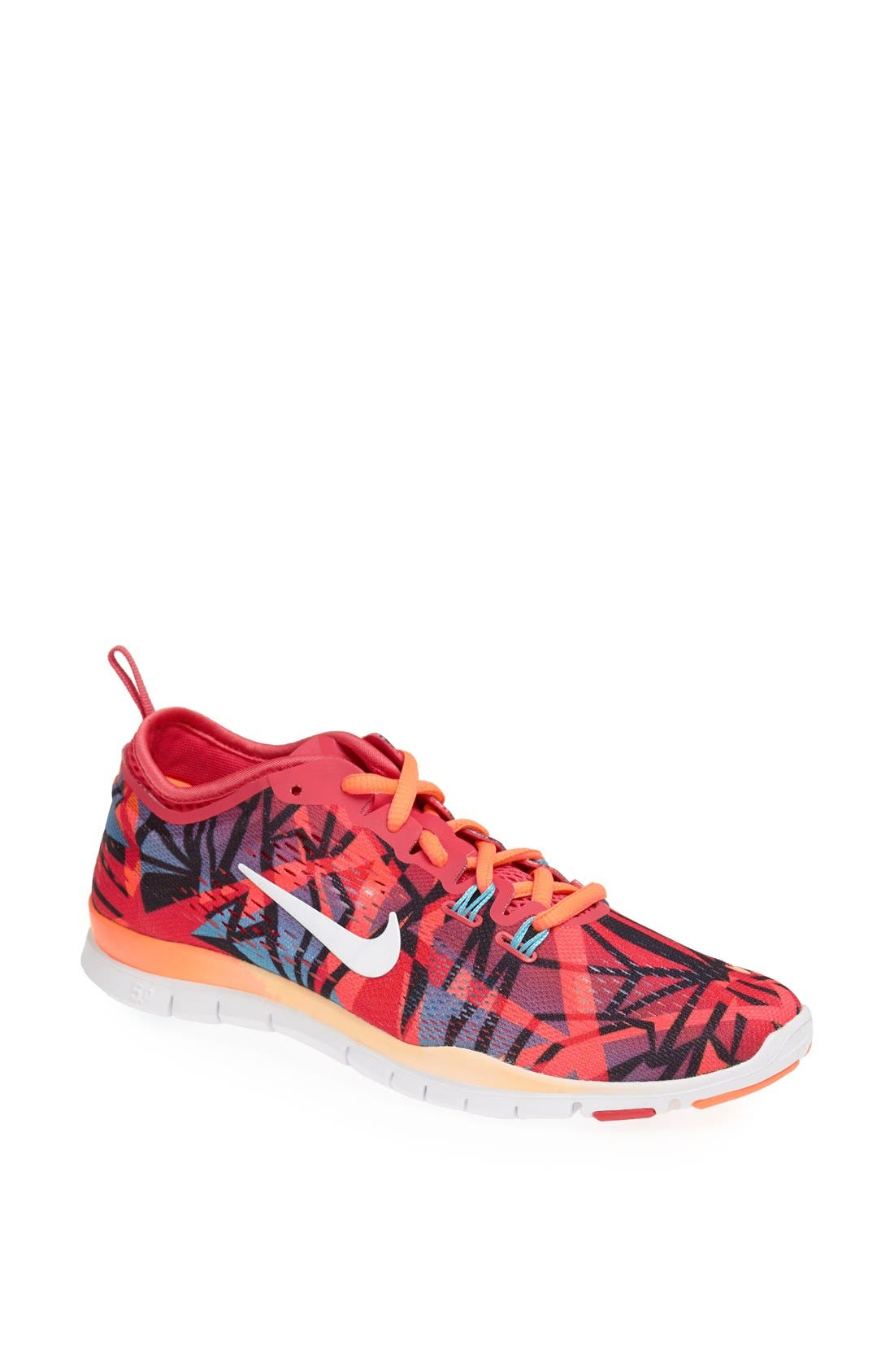 Alternate Image 1 Selected - Nike 'Free 5.0 TR Fit 4' Print Training Shoe (Women)