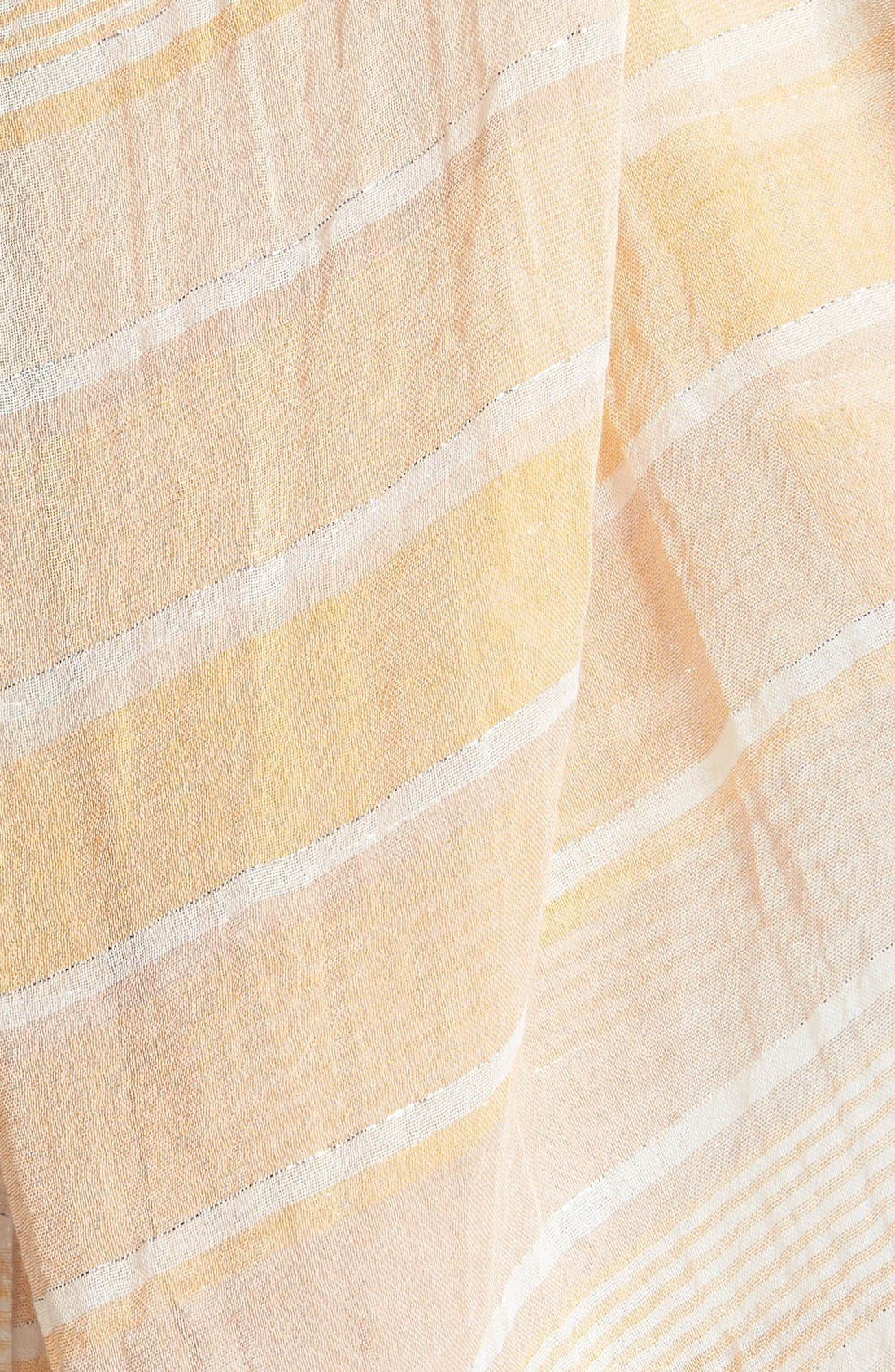 Alternate Image 2  - Eileen Fisher Ombré Stripe Cotton Scarf