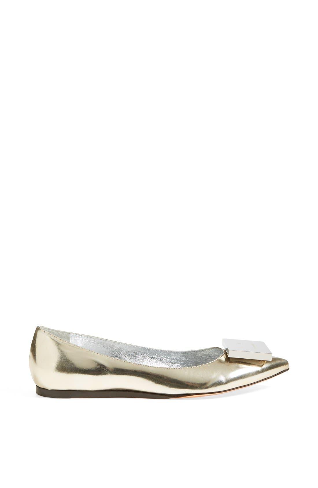 Alternate Image 4  - Acne Studios 'Aida' Pointy Toe Metallic Leather Flat