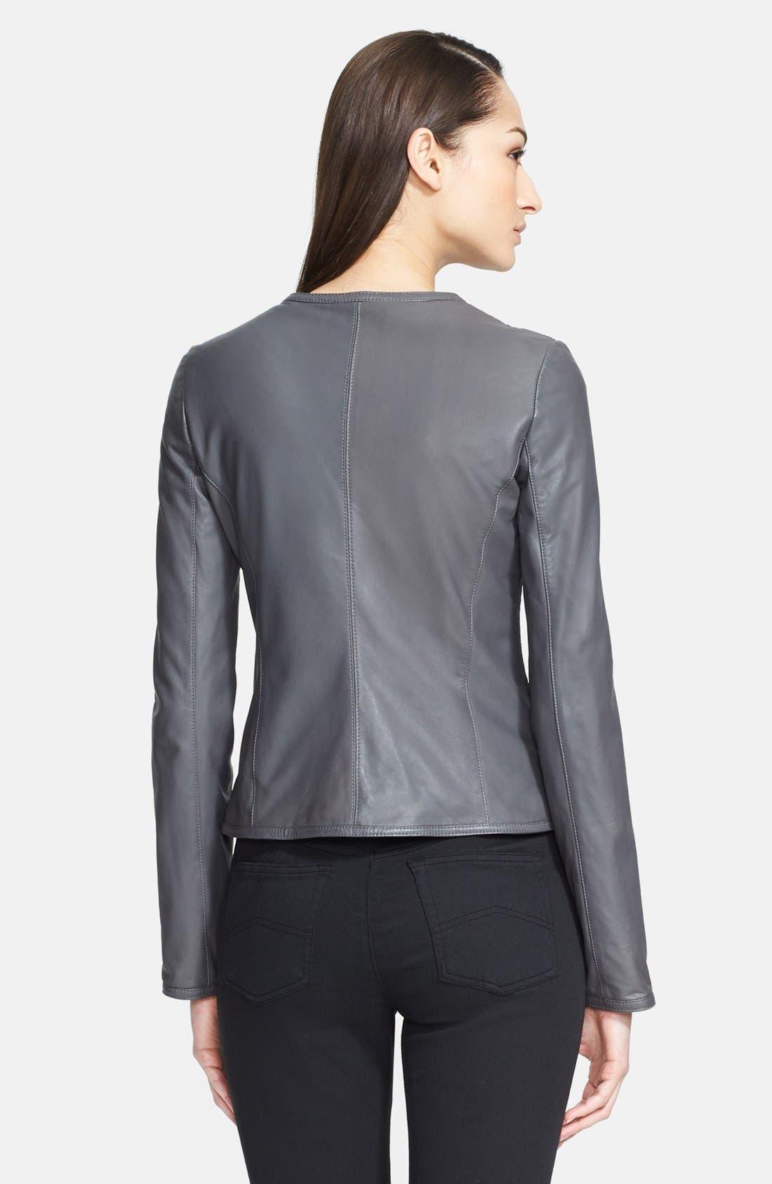 Alternate Image 2  - Armani Collezioni Hand Woven Leather Jacket