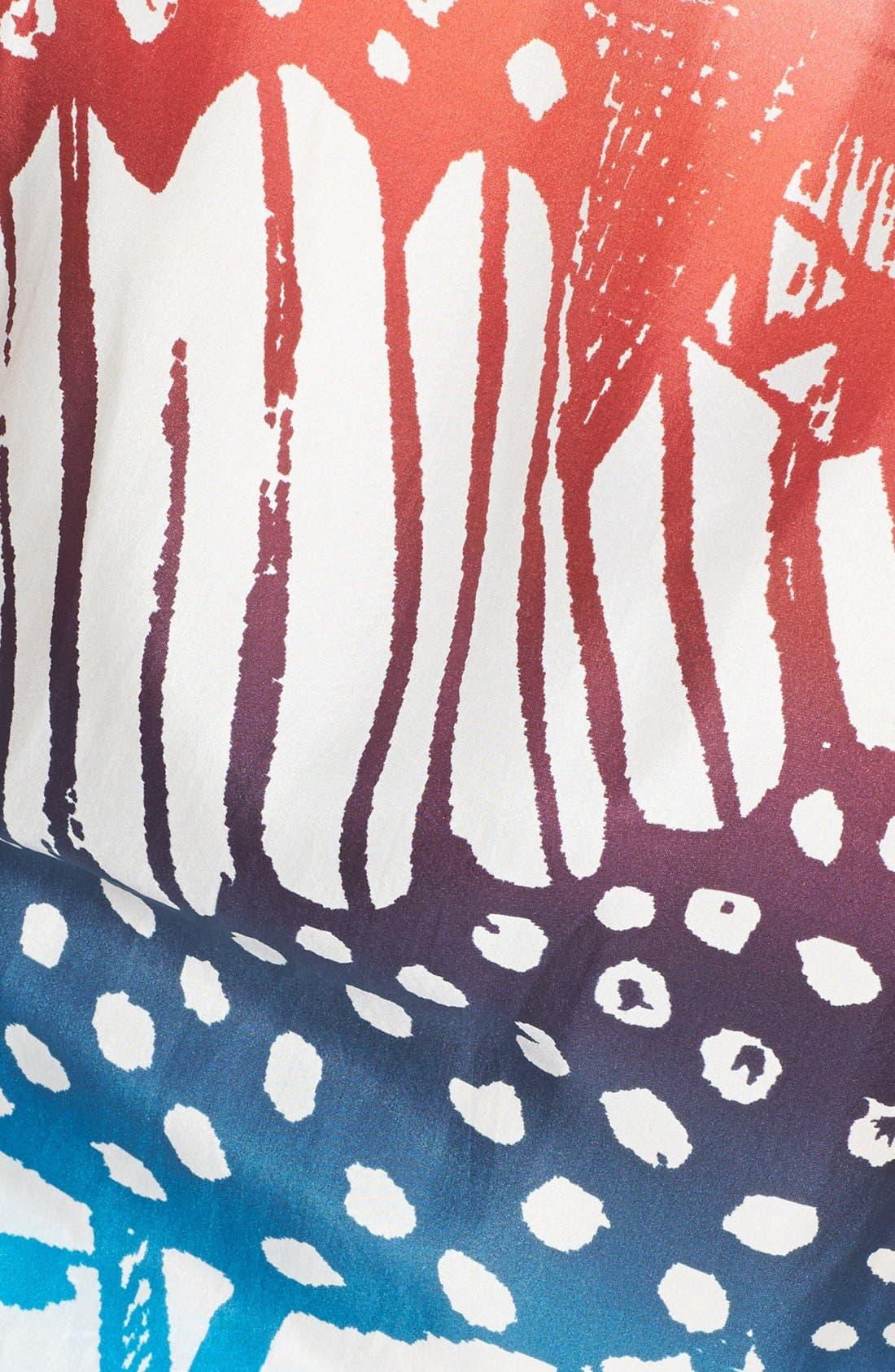 Alternate Image 3  - Diane von Furstenberg 'Mauri' Print Silk Gown