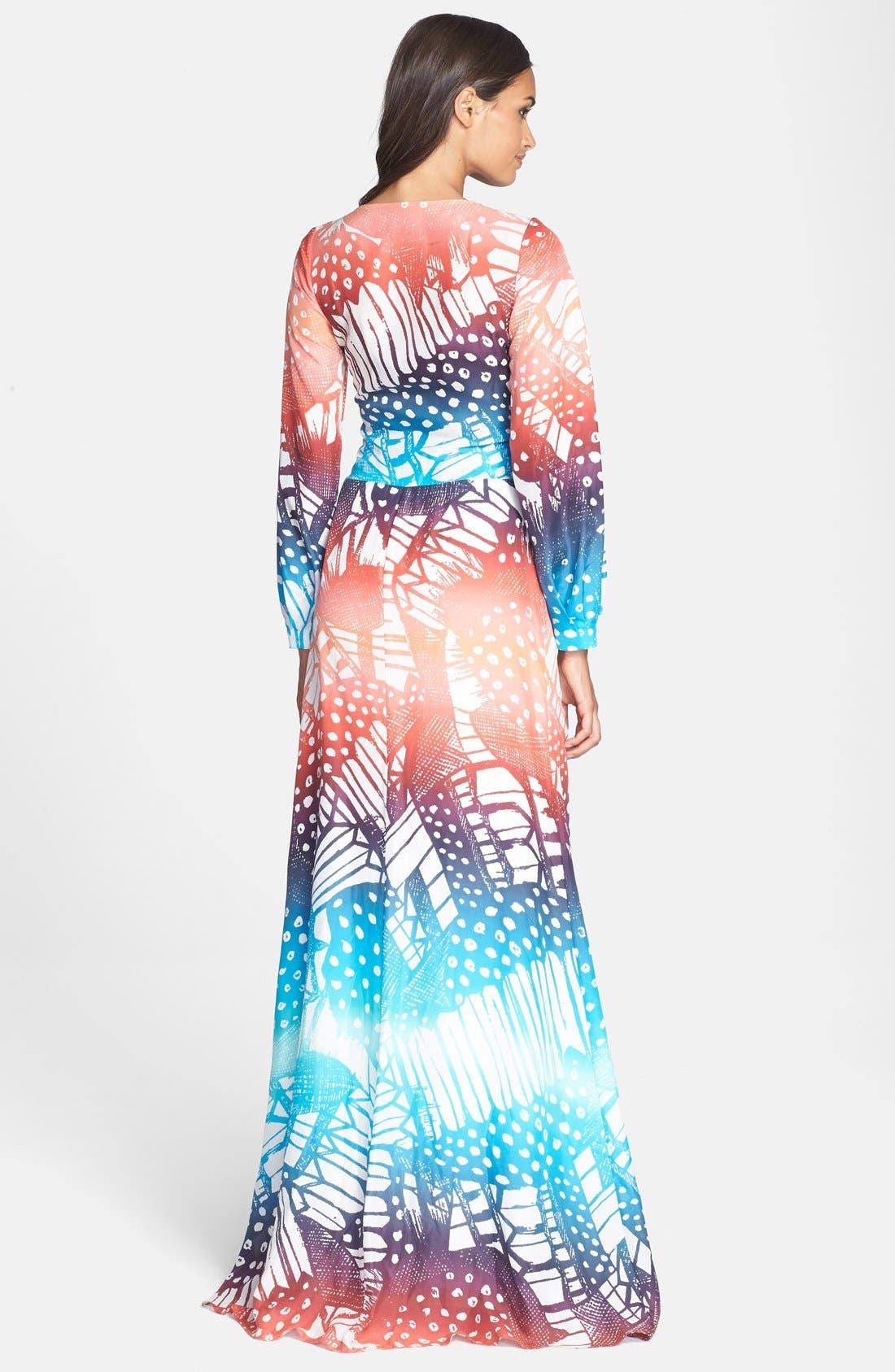Alternate Image 2  - Diane von Furstenberg 'Mauri' Print Silk Gown