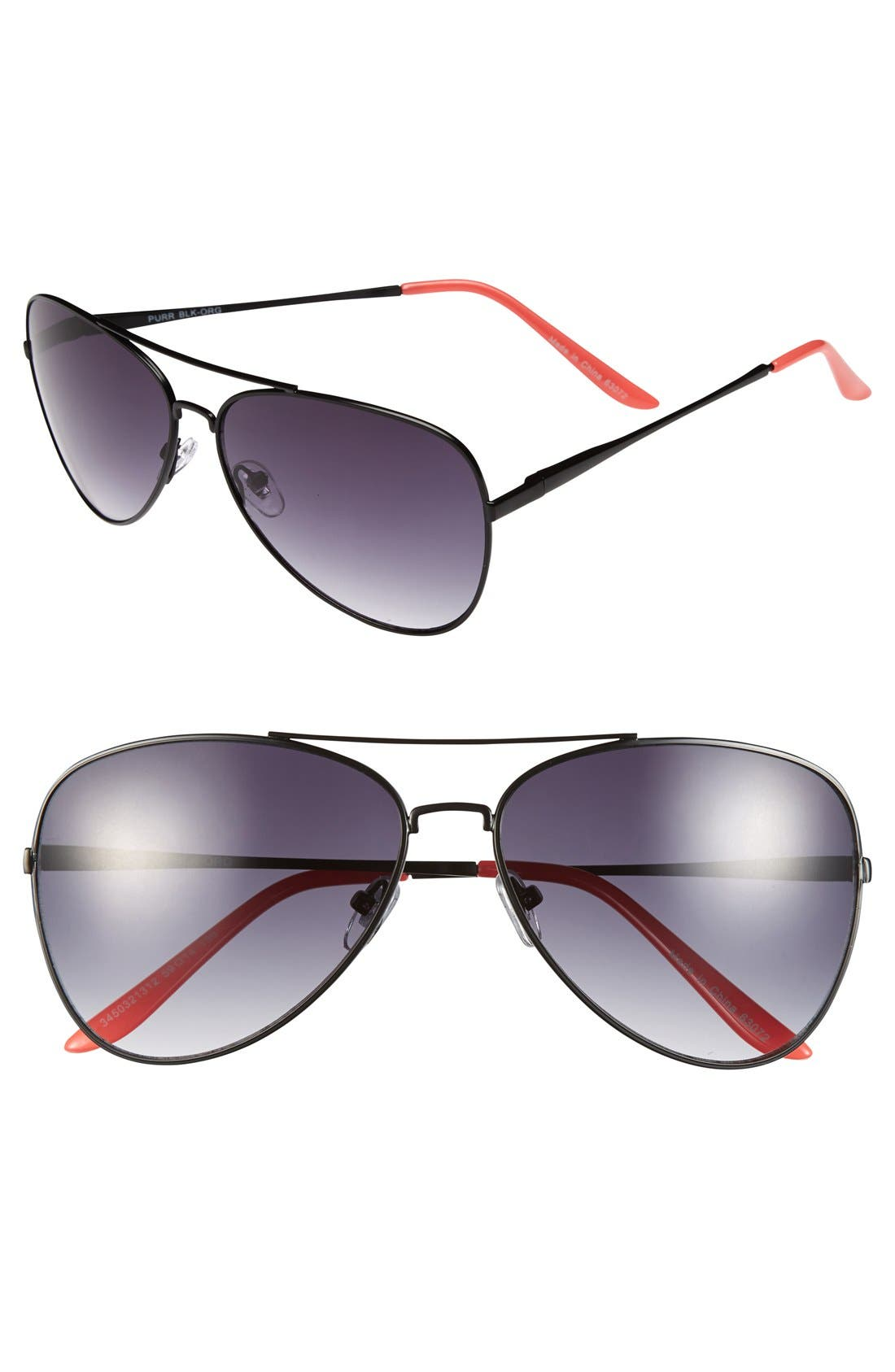 Main Image - Outlook Eyewear 'Purr' 59mm Aviator Sunglasses