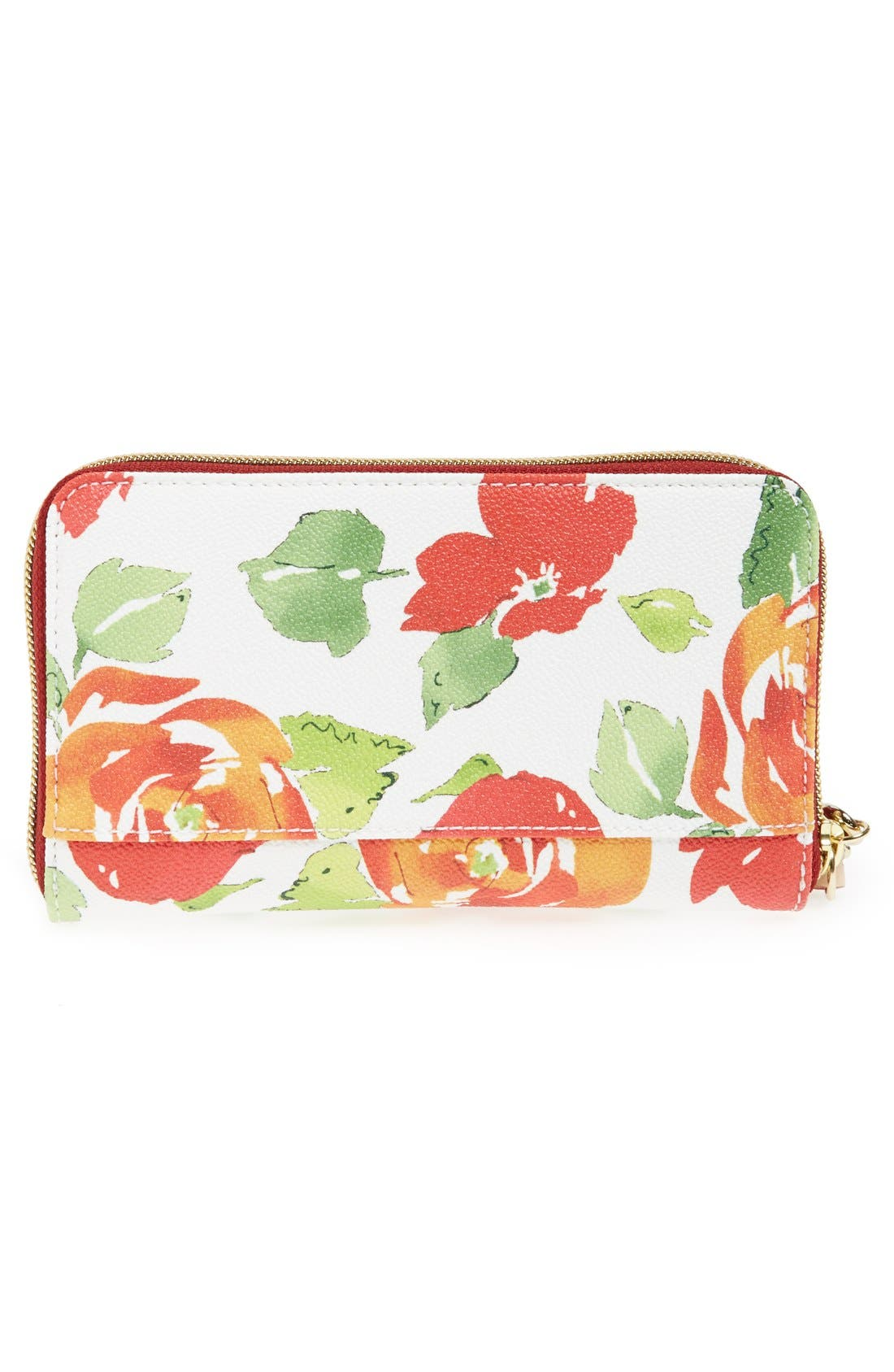 Alternate Image 3  - Dooney & Bourke 'Rose Garden' Zip Around Wristlet