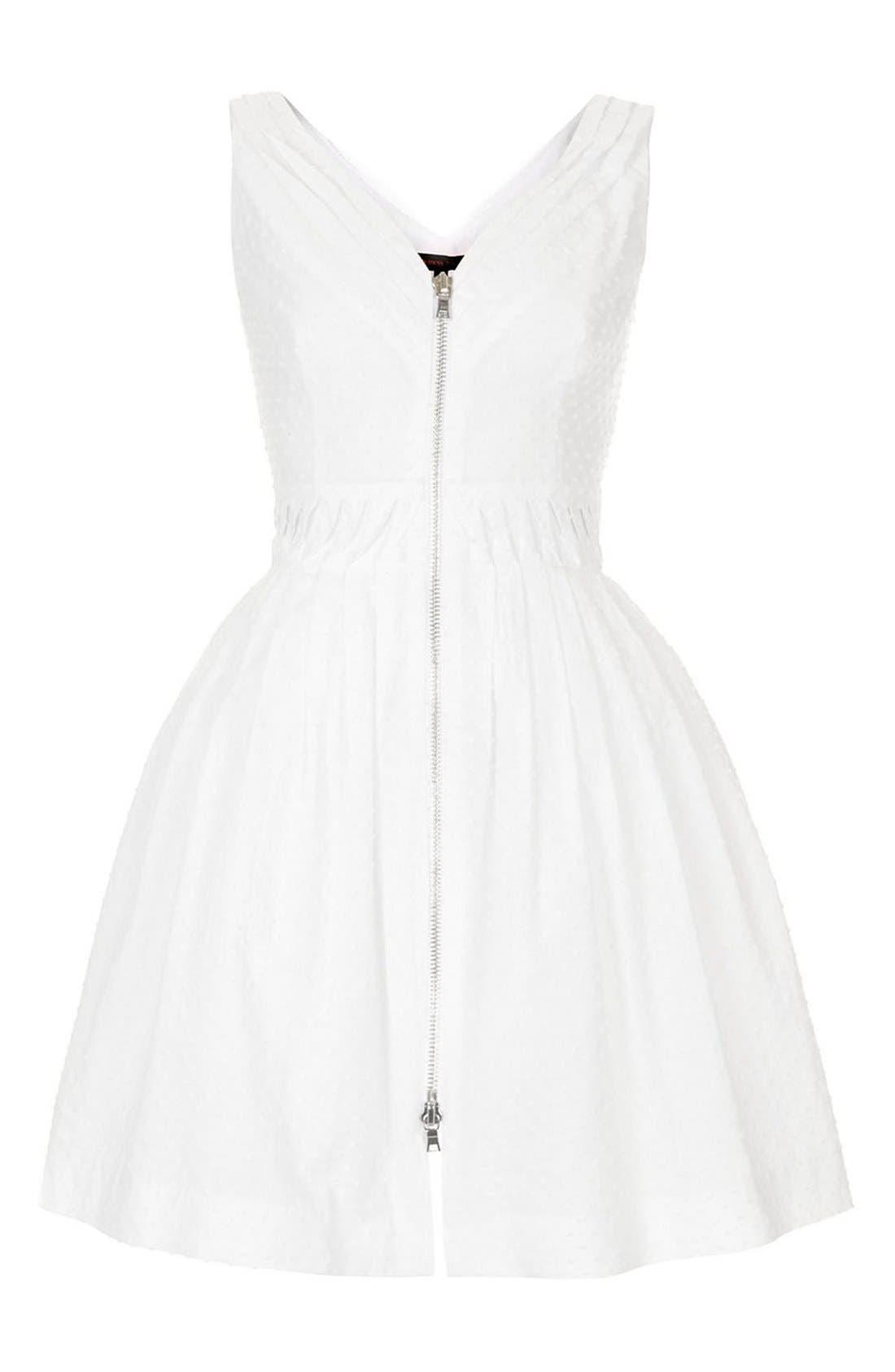 Alternate Image 3  - Kate Moss for Topshop Zip Front Cotton Dobby Sundress