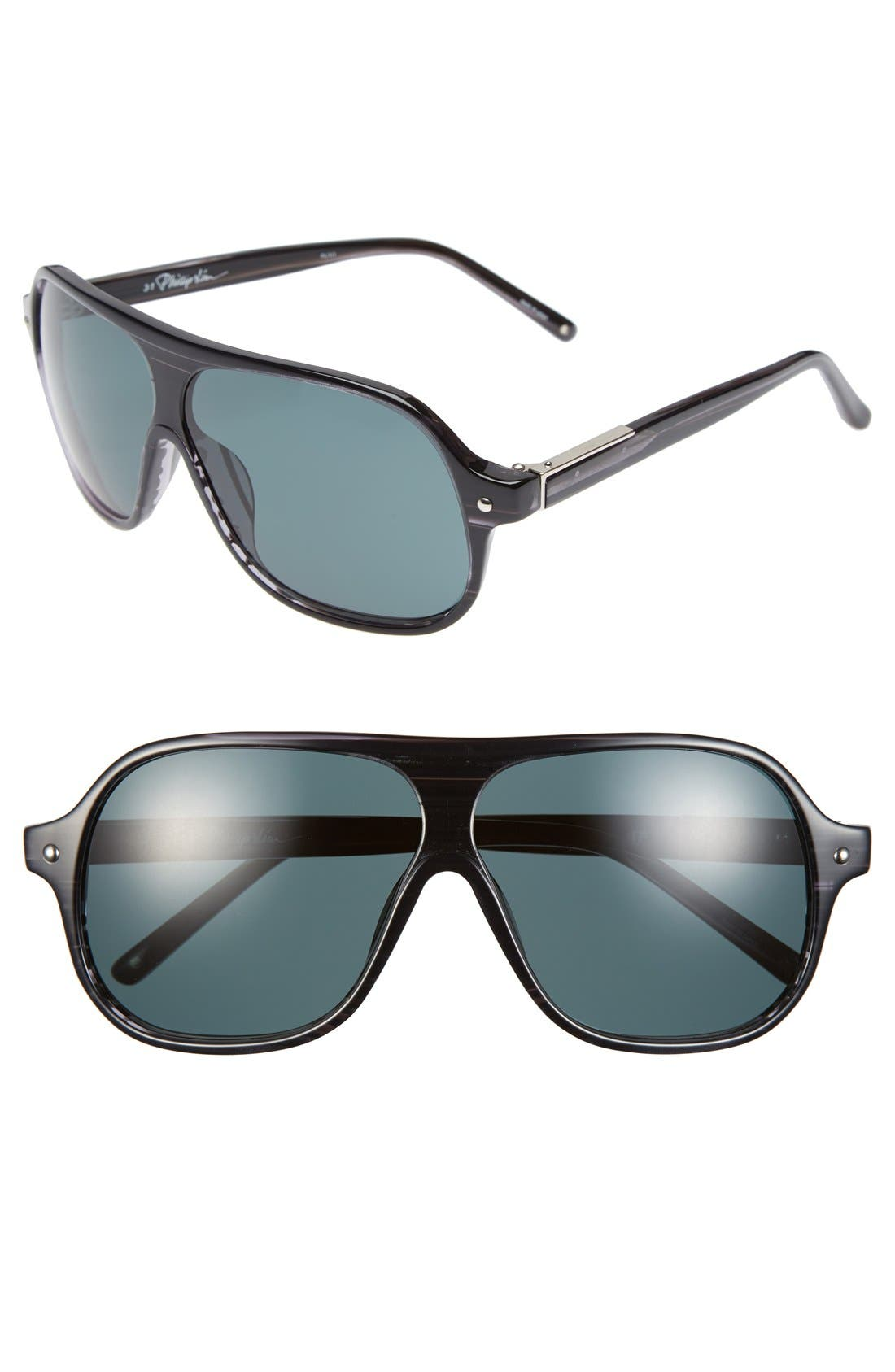 Alternate Image 1 Selected - 3.1 Phillip Lim 64mm Aviator Sunglasses