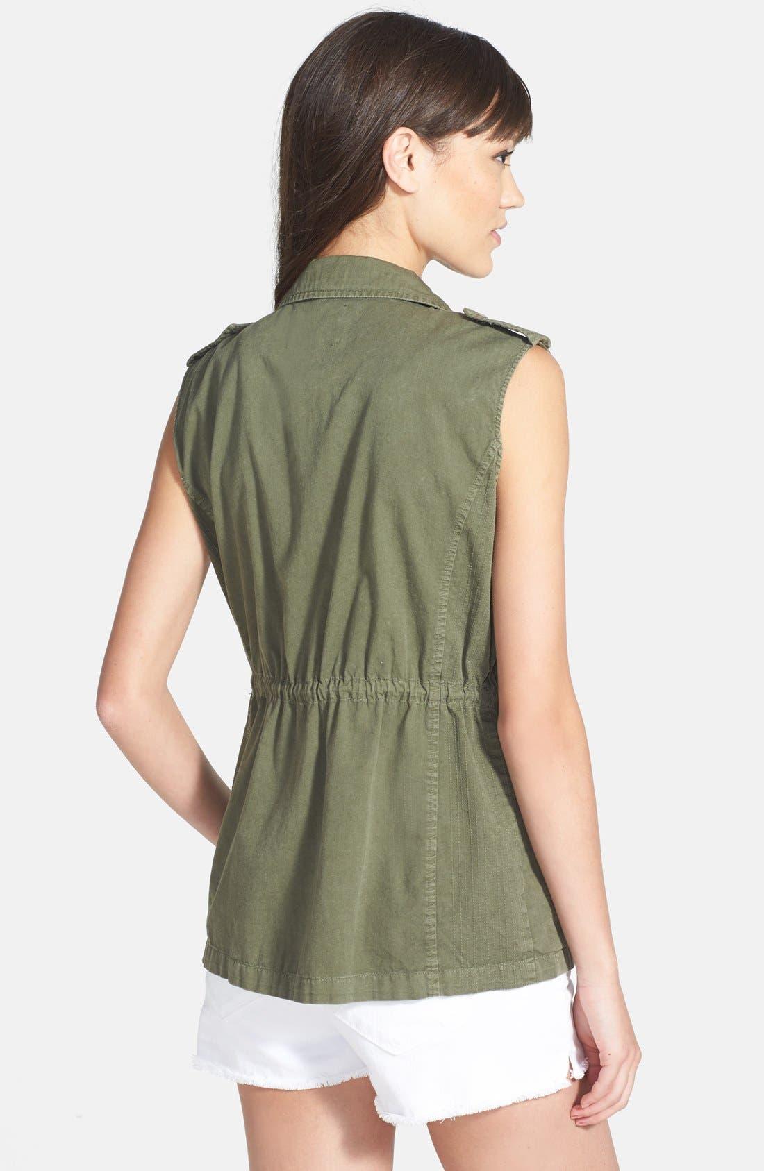 Alternate Image 2  - Velvet by Graham & Spencer Cargo Twill Vest