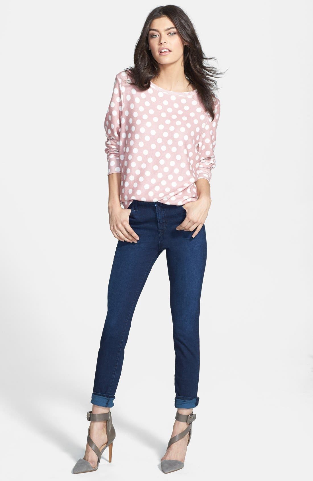 Alternate Image 5  - Wildfox Mauve Dots Pullover (Nordstrom Exclusive)