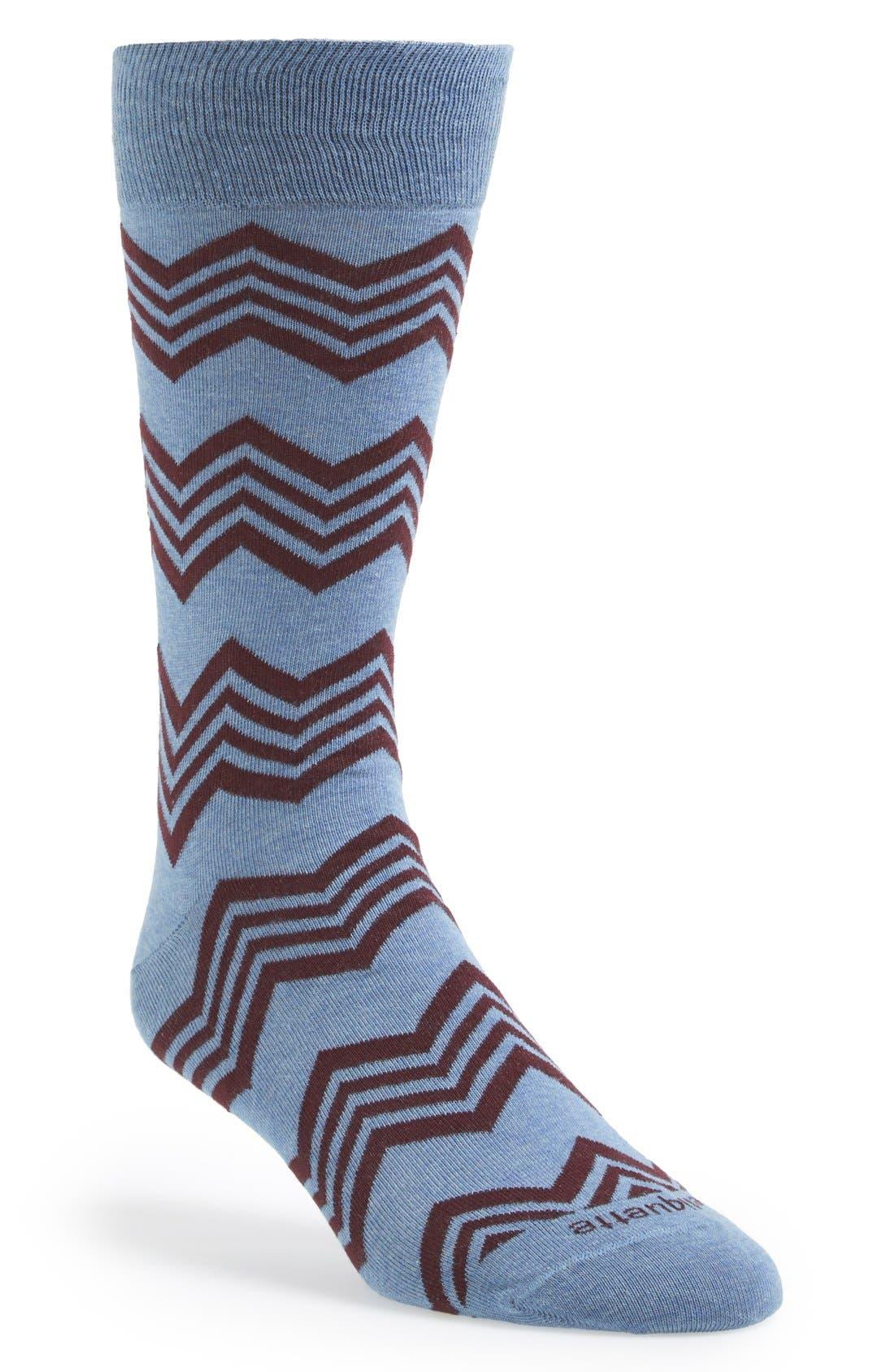 Main Image - Etiquette Clothiers 'Alpine' Stripe Socks