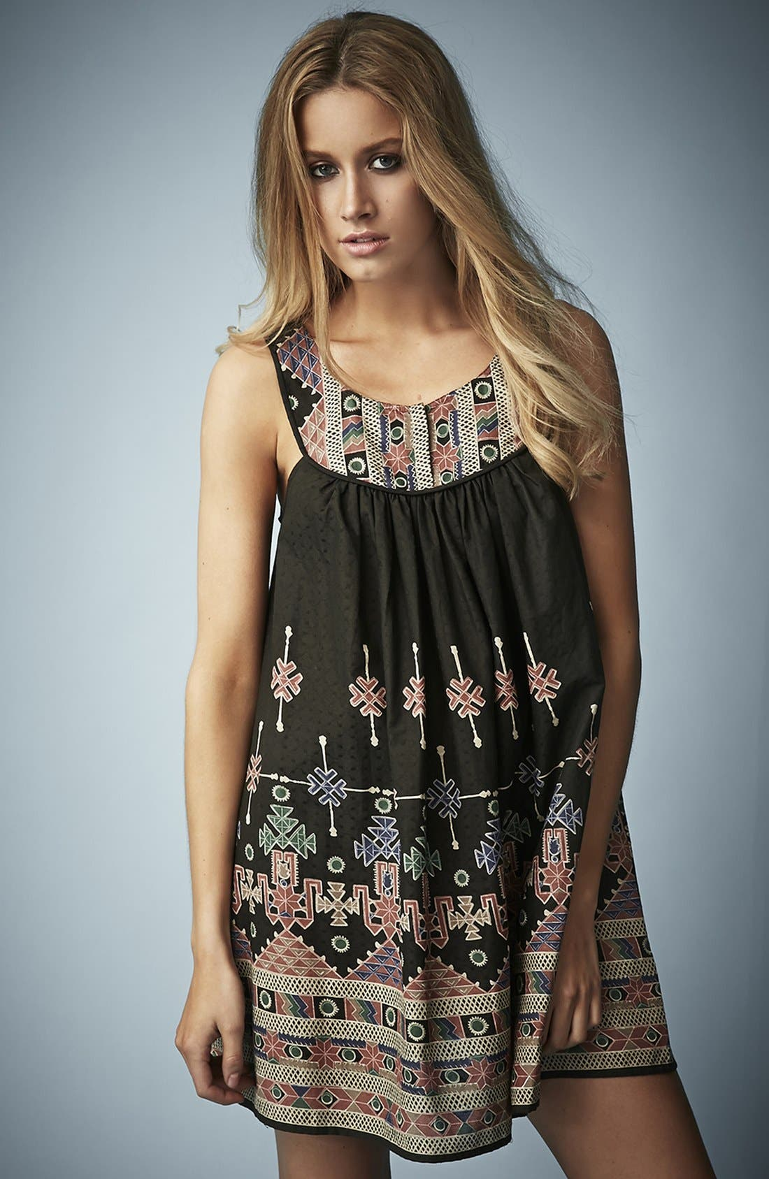 Main Image - Kate Moss for Topshop Aztec Print Sundress