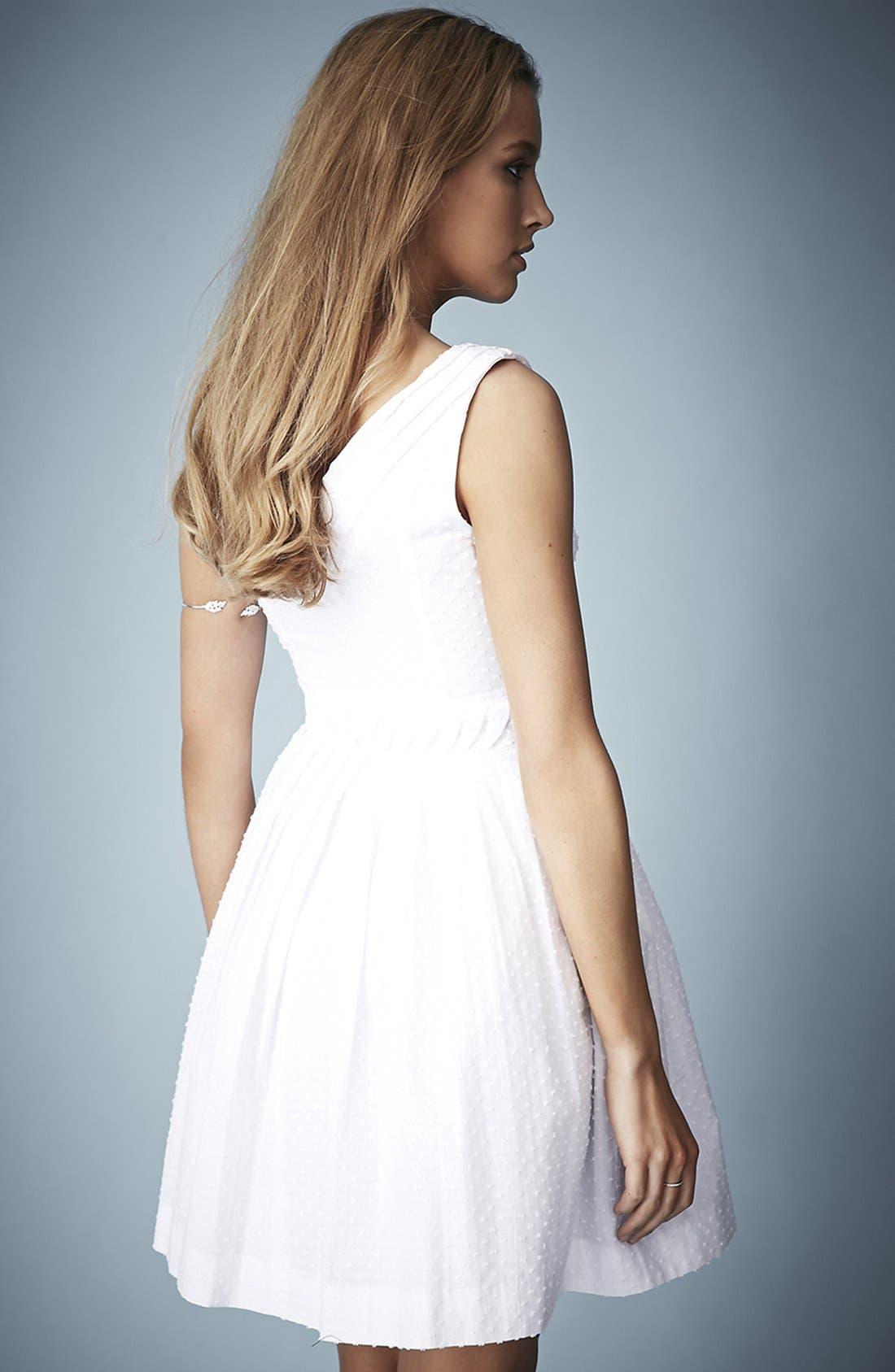 Alternate Image 2  - Kate Moss for Topshop Zip Front Cotton Dobby Sundress