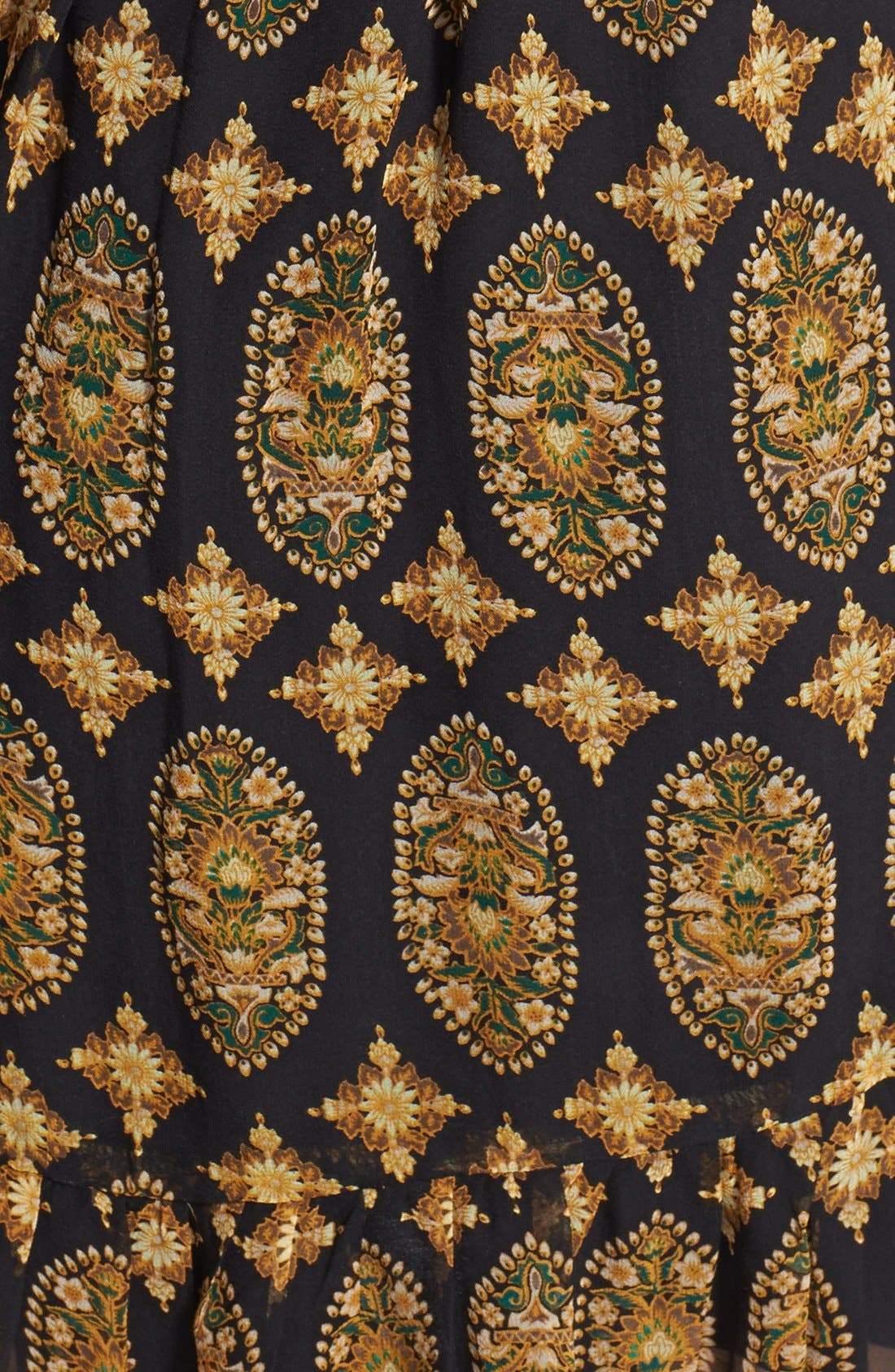 Alternate Image 3  - Ella Moss Marigold Print Silk Dress (Nordstrom Exclusive)