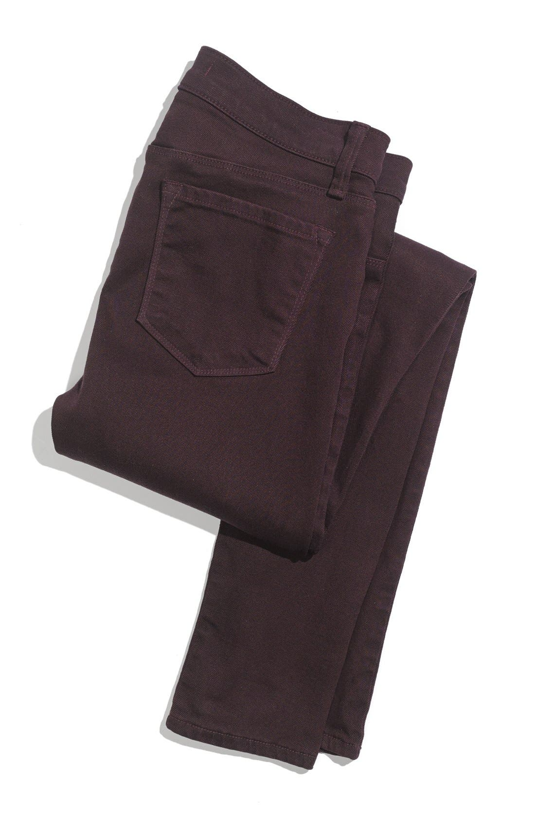Alternate Image 6  - J Brand '485' Skinny Jeans (Dark Plum)