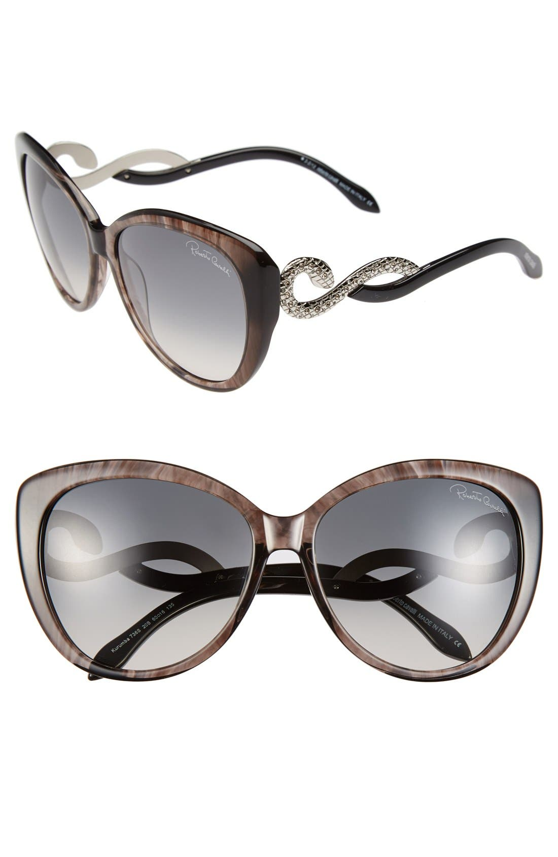 Main Image - Roberto Cavalli 'Kurumba' 60mm Oversized Sunglasses