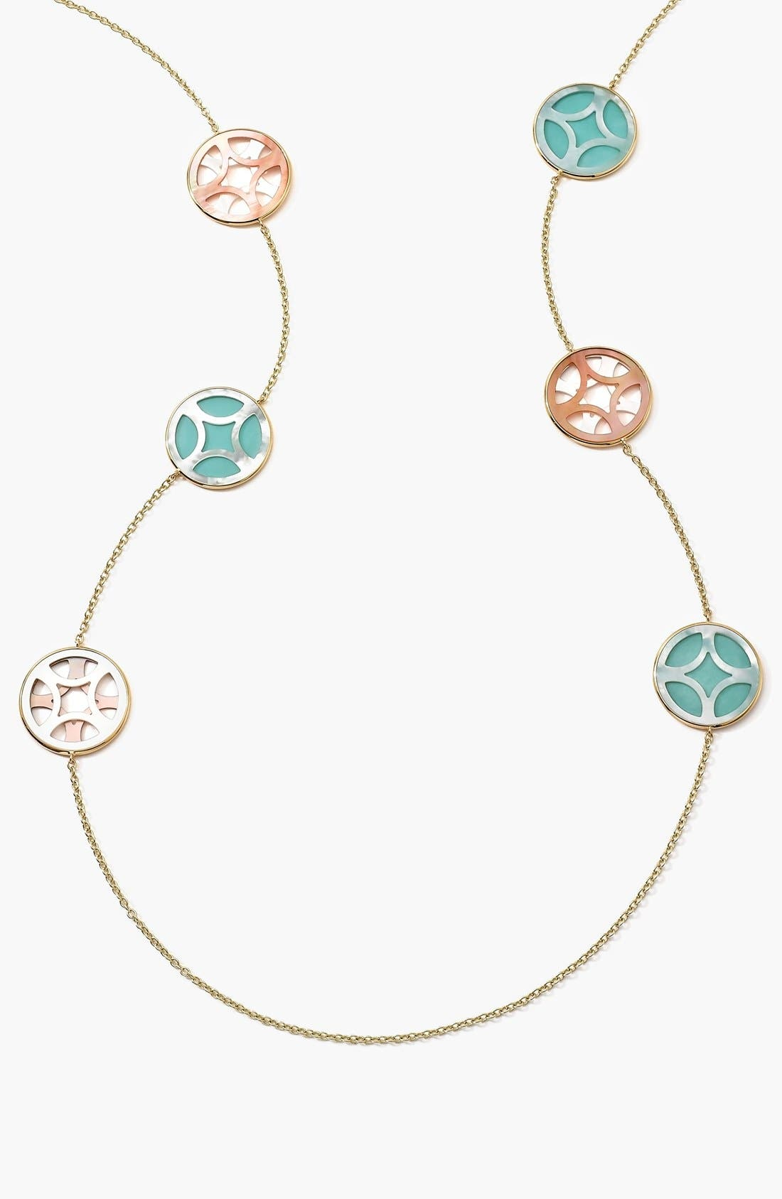Alternate Image 1 Selected - Ippolita 'Polished Rock Candy' 18k Gold Long Station Necklace