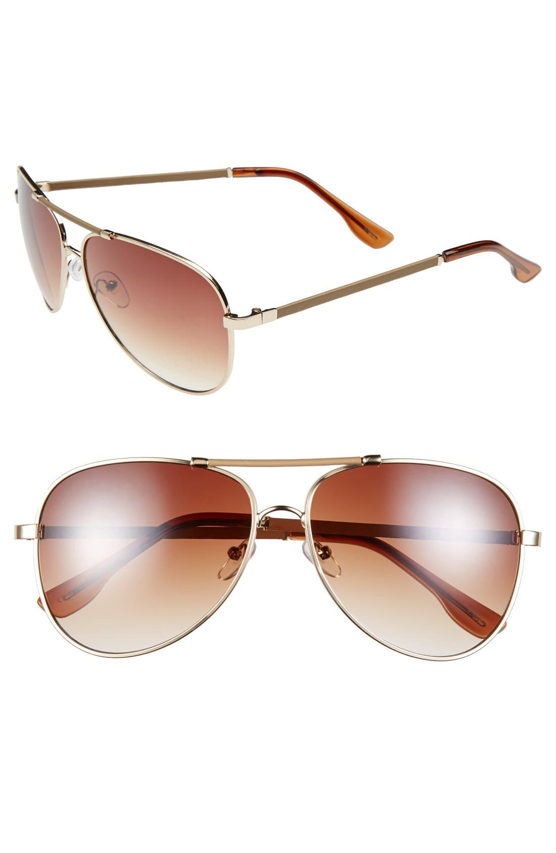 Main Image - Icon Eyewear 60mm Aviator Sunglasses