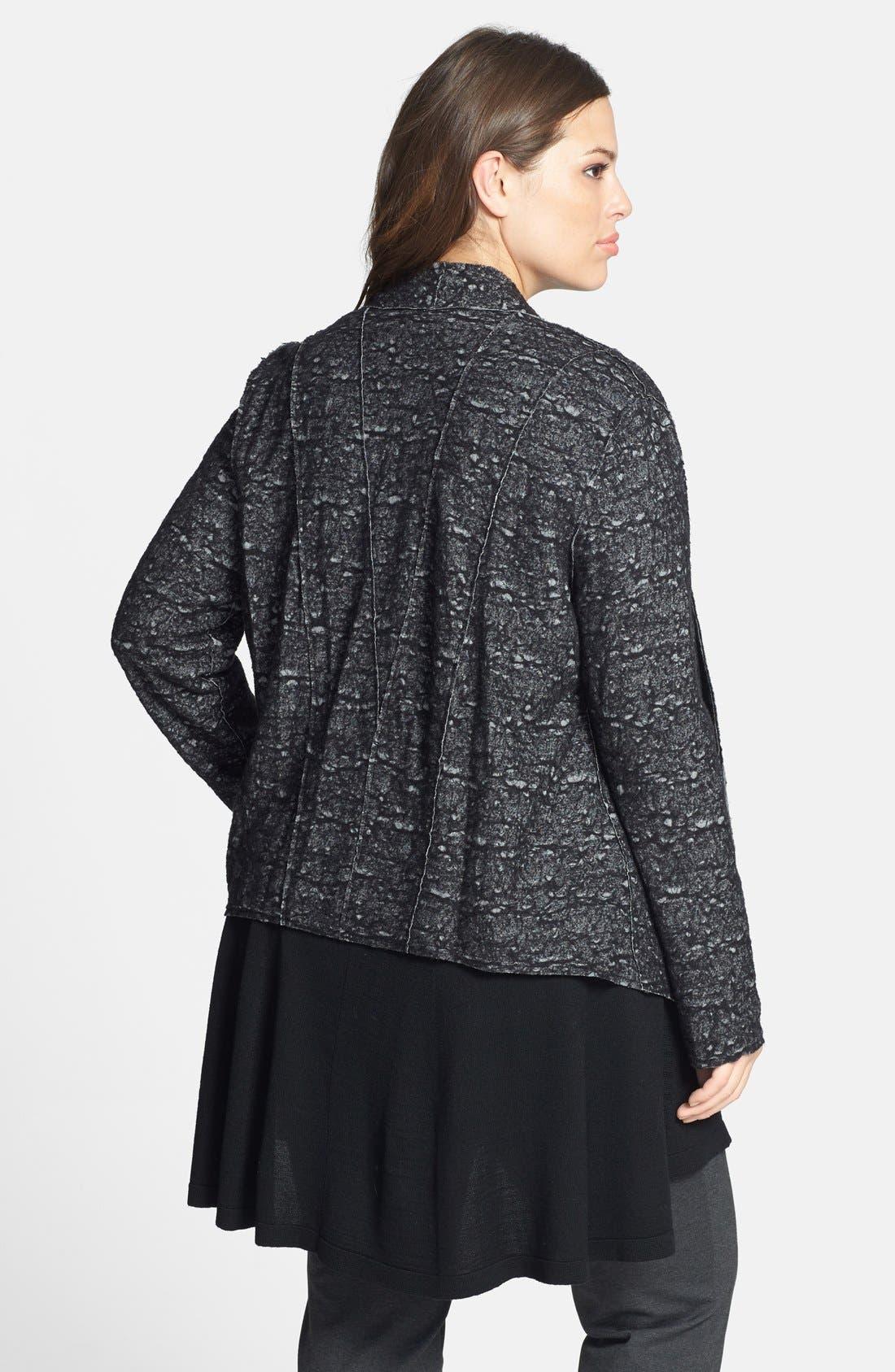 Alternate Image 2  - Eileen Fisher Drape Front Shaped Jacket (Plus Size)
