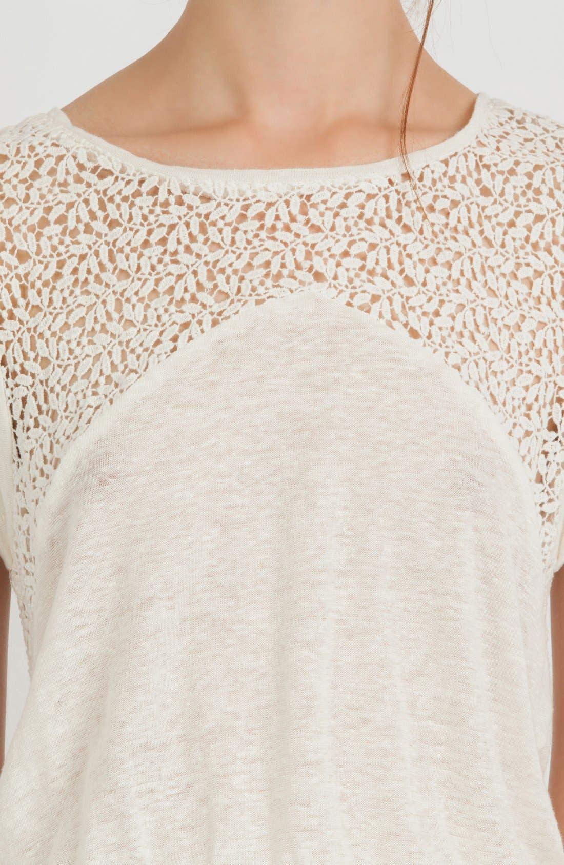 Alternate Image 3  - maje Lace Yoke Blouson Dress