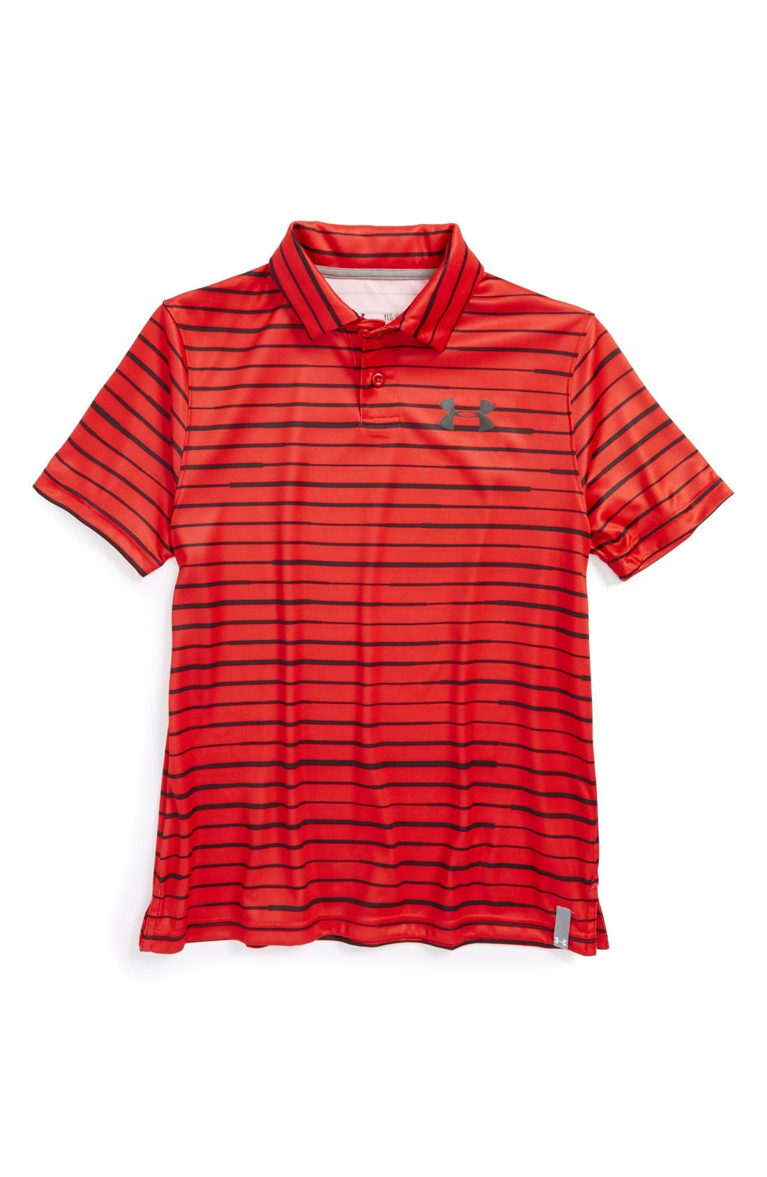 Alternate Image 1 Selected - Under Armour 'Seismic Stripe' Tech Polo Shirt (Big Boys)