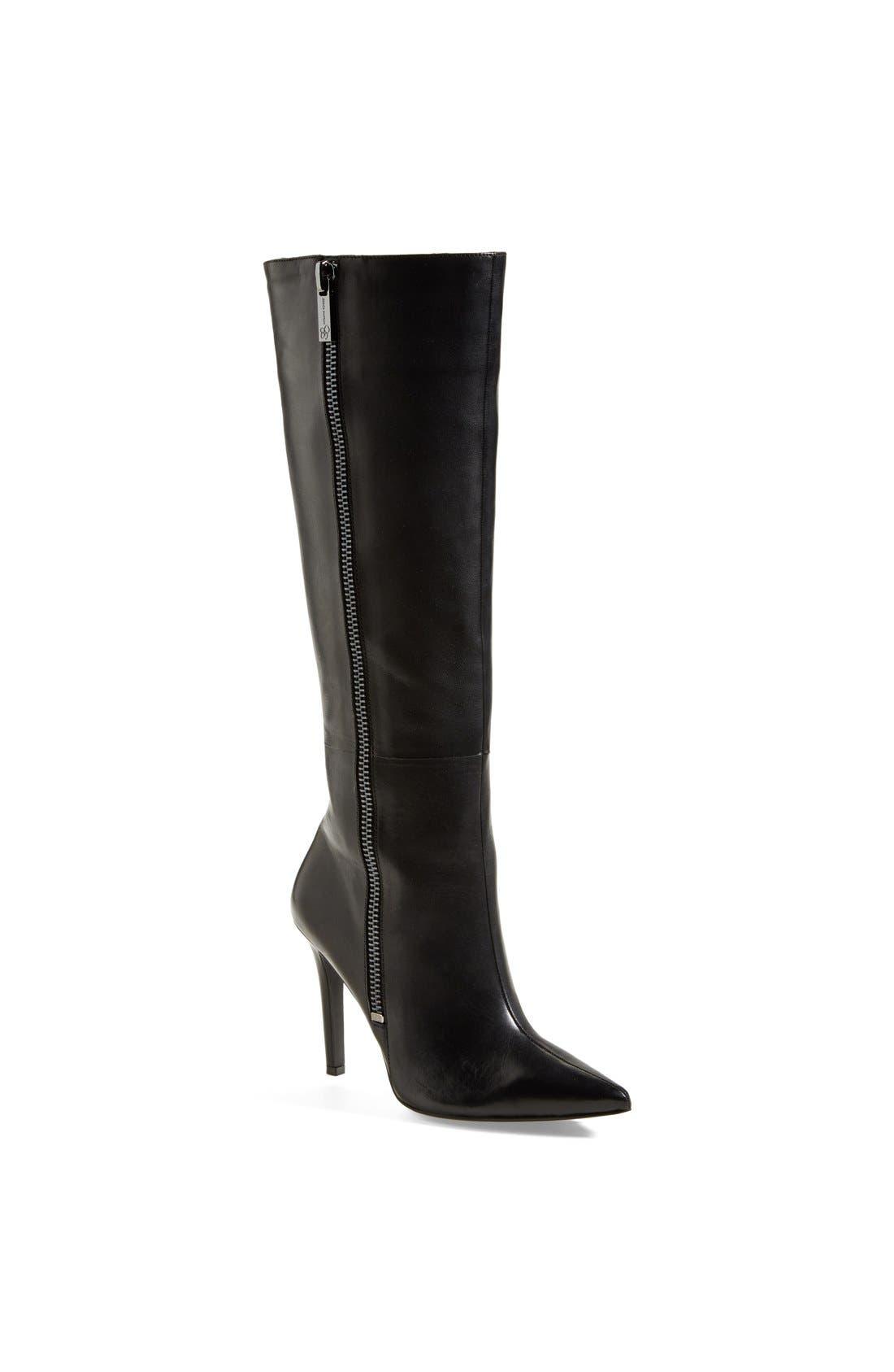 Main Image - Jessica Simpson 'Capitani' Pointy Toe Knee High Boot (Women)