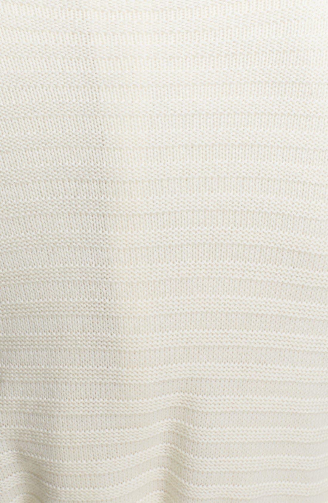 Alternate Image 3  - St. John Collection Raised Stripe Knit Cardigan