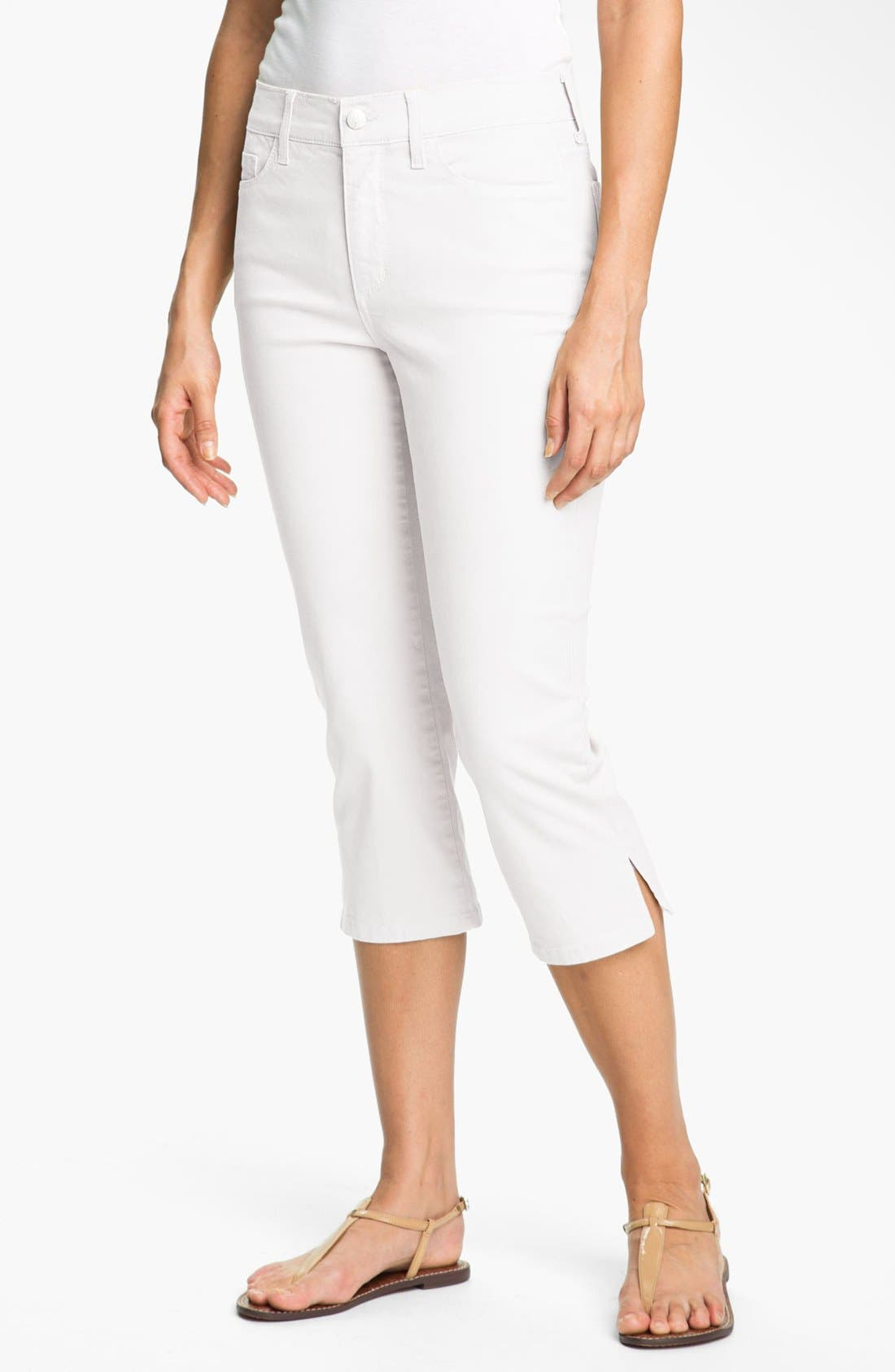 Alternate Image 1 Selected - NYDJ 'Nanette' Stretch Crop Jeans (Petite)