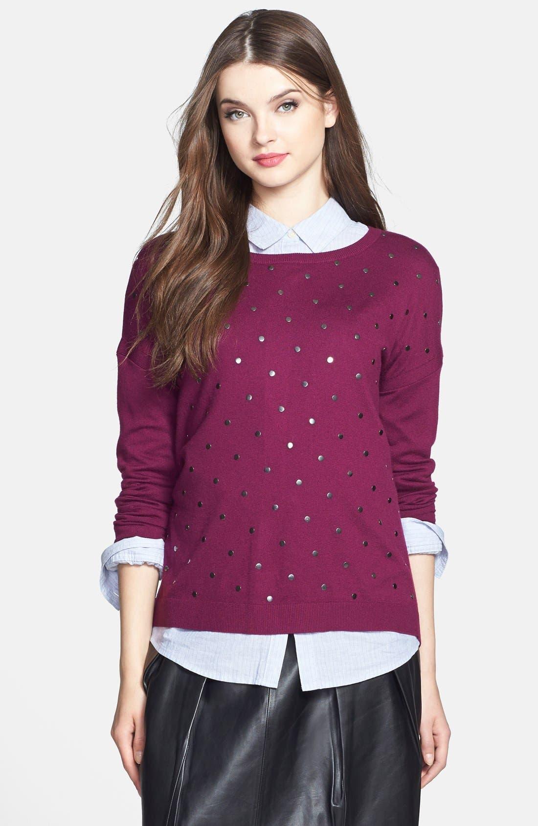 Alternate Image 1 Selected - Caslon® Studded Sweater