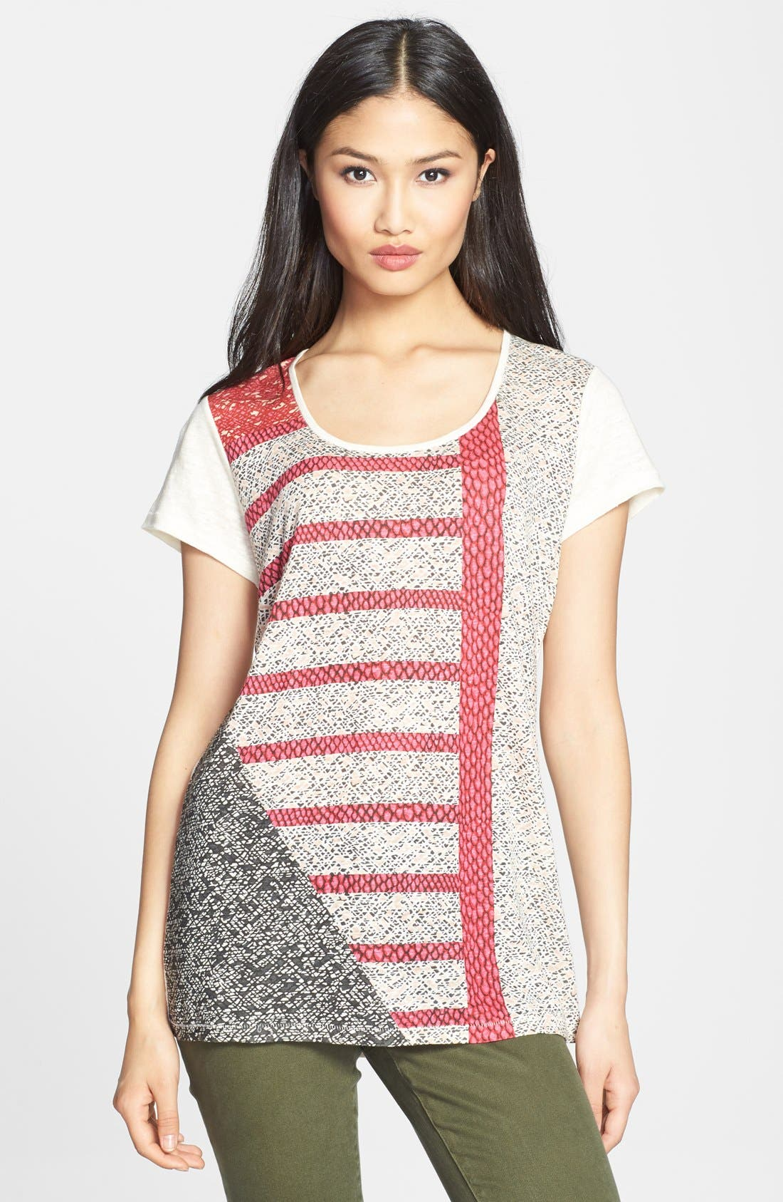 Alternate Image 1 Selected - MARC BY MARC JACOBS 'Prachi' Patchwork Tee