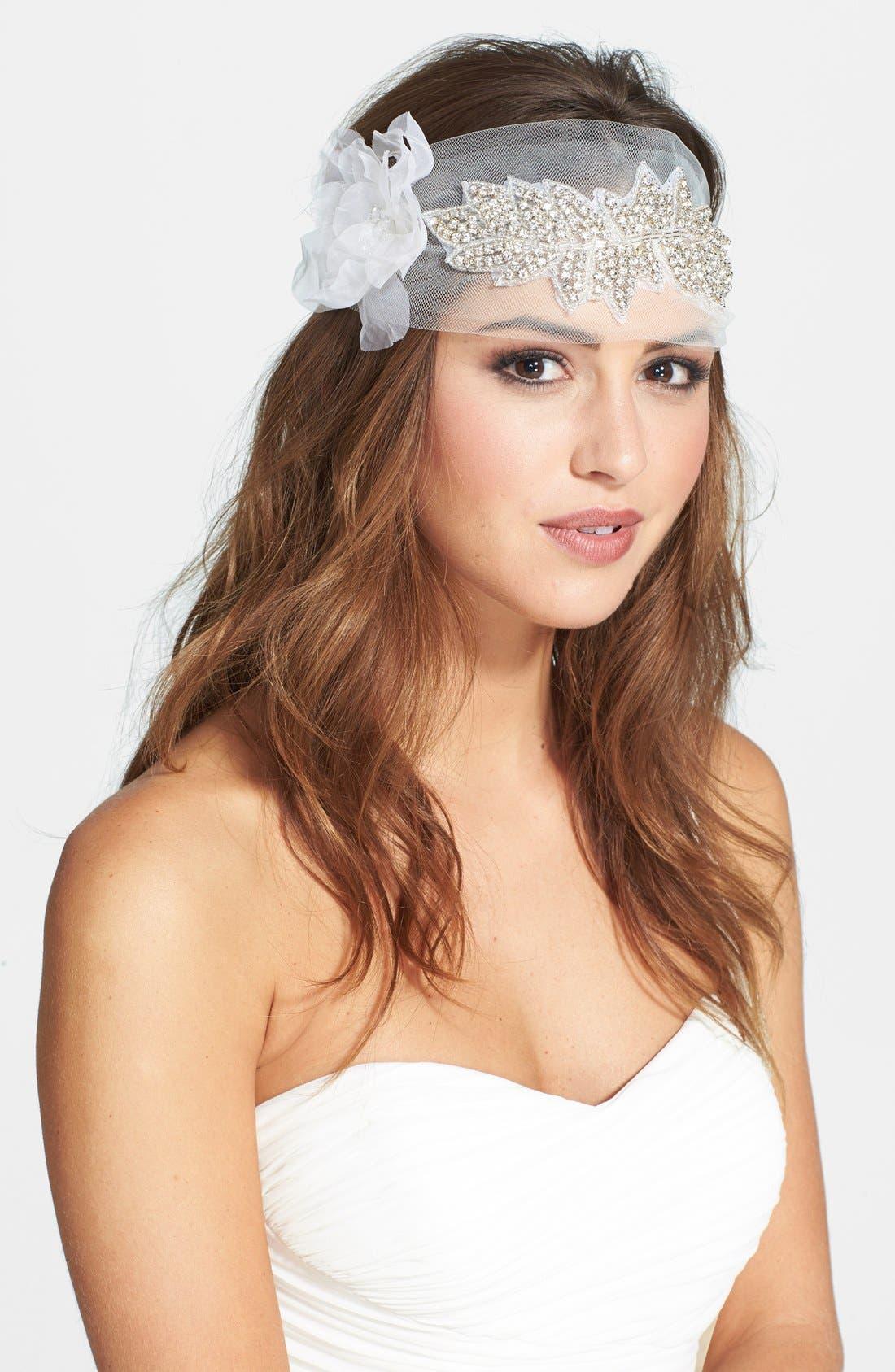 Alternate Image 1 Selected - Serephine 'Francesca' Headpiece/Sash