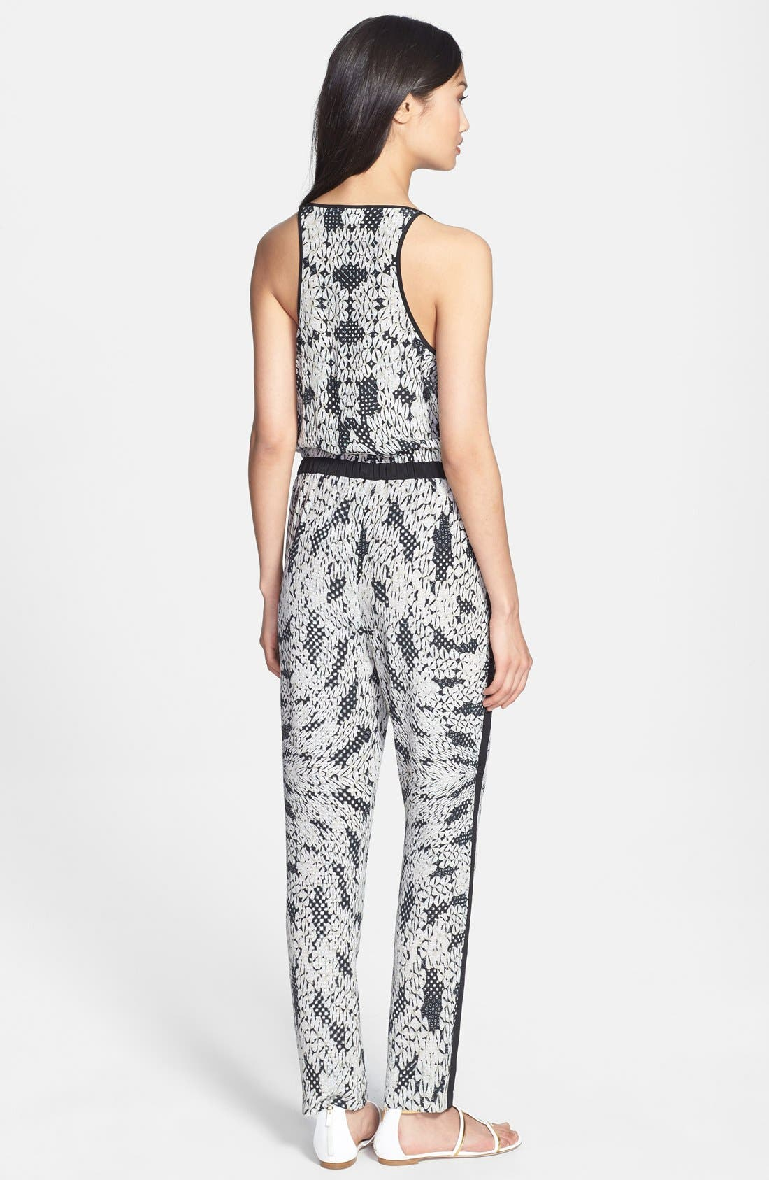Alternate Image 2  - Diane von Furstenberg 'Shany' Print Silk Jumpsuit