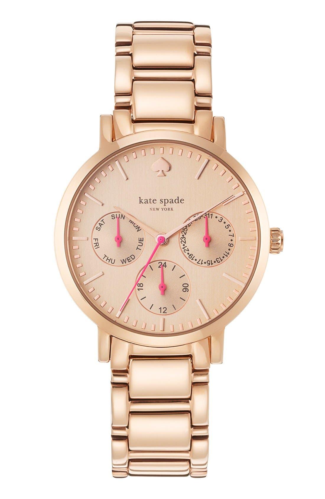 Main Image - kate spade new york 'gramercy' multifunction bracelet watch, 34mm