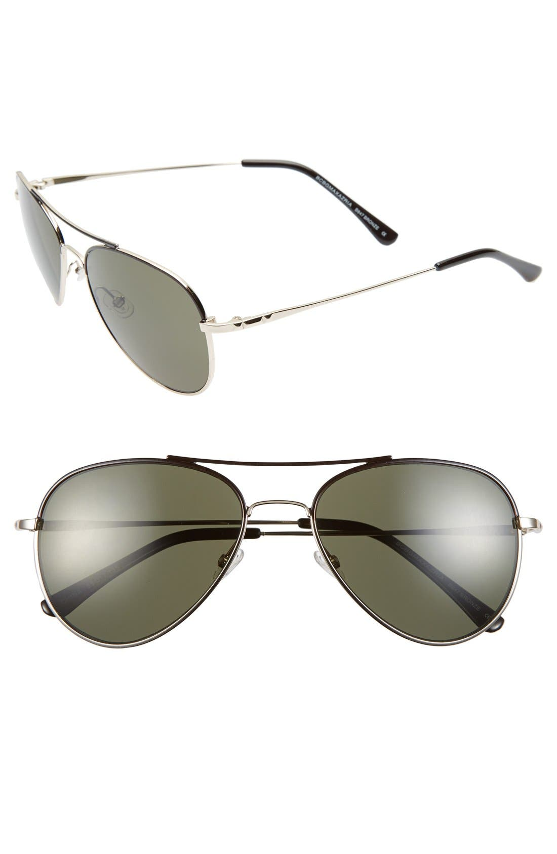 Main Image - BCBGMAXAZRIA 55mm Aviator Sunglasses