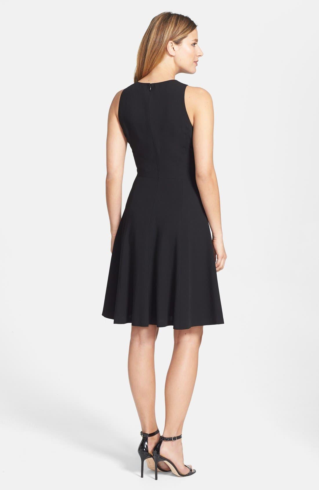 Alternate Image 2  - Classiques Entier® 'Catroux' Twill Fit & Flare Dress