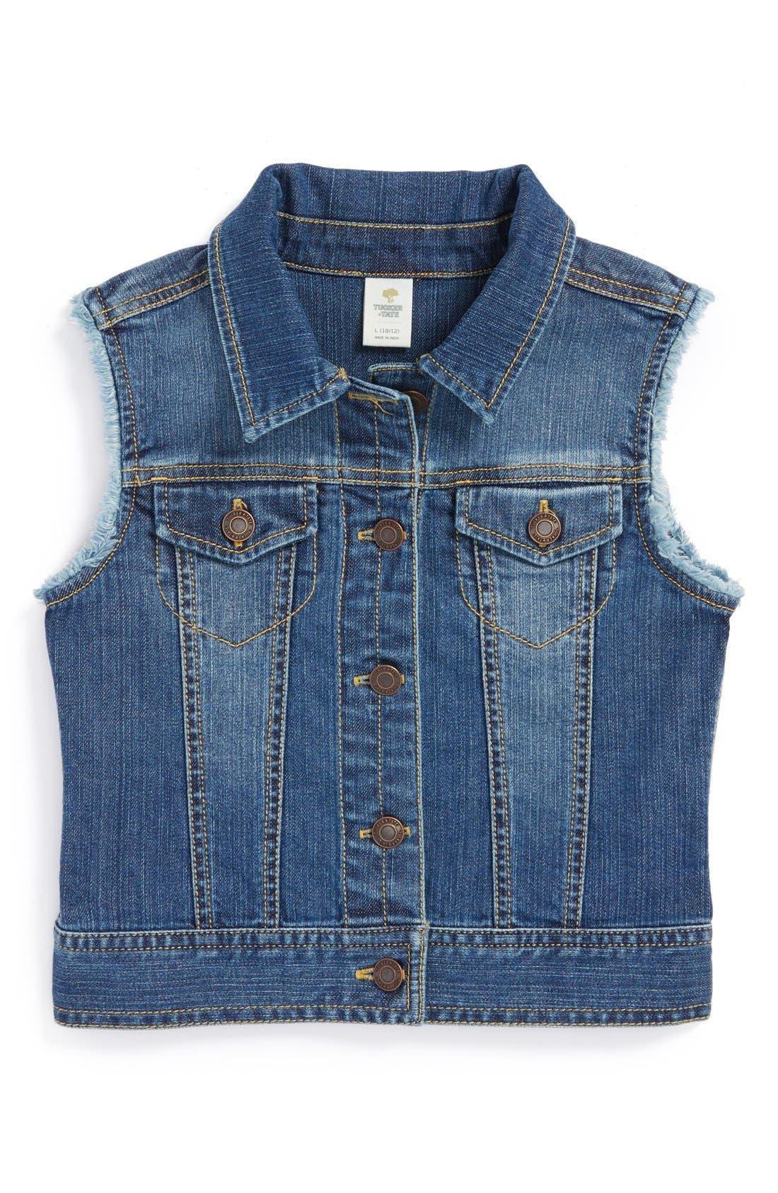 Alternate Image 1 Selected - Tucker + Tate Denim Vest (Big Girls)
