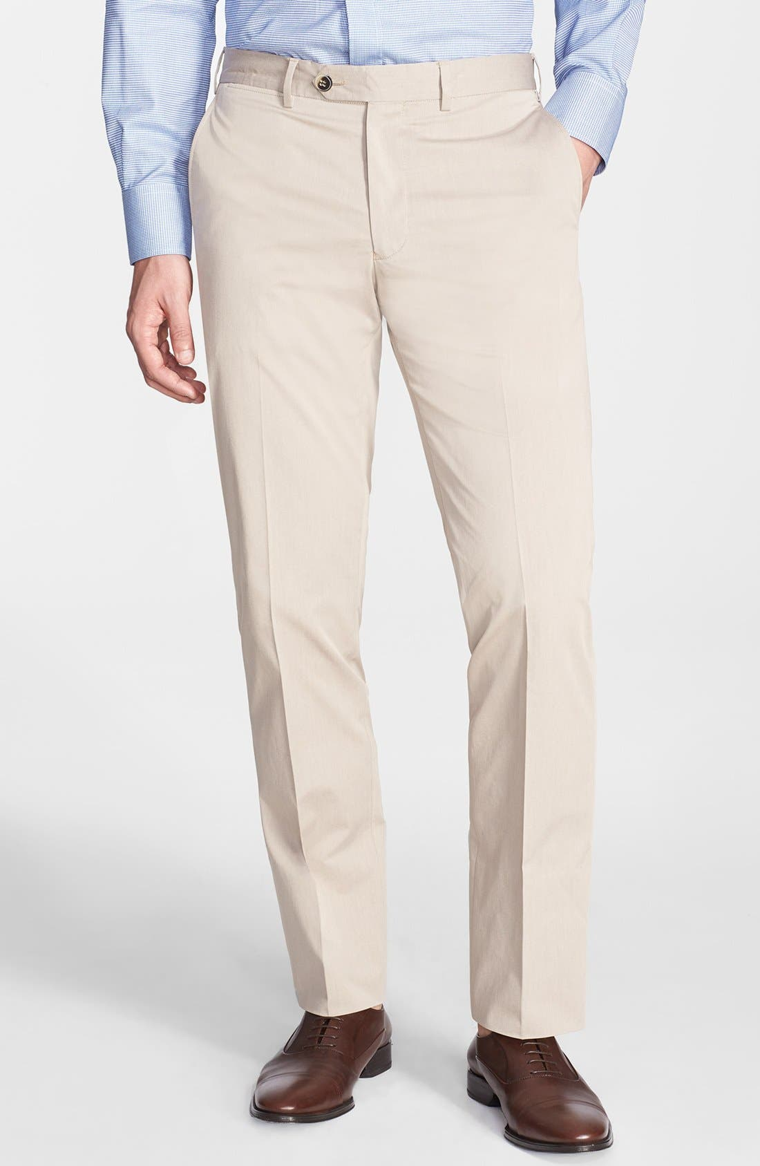 Main Image - Canali Five Pocket Stretch Cotton Italian Pants