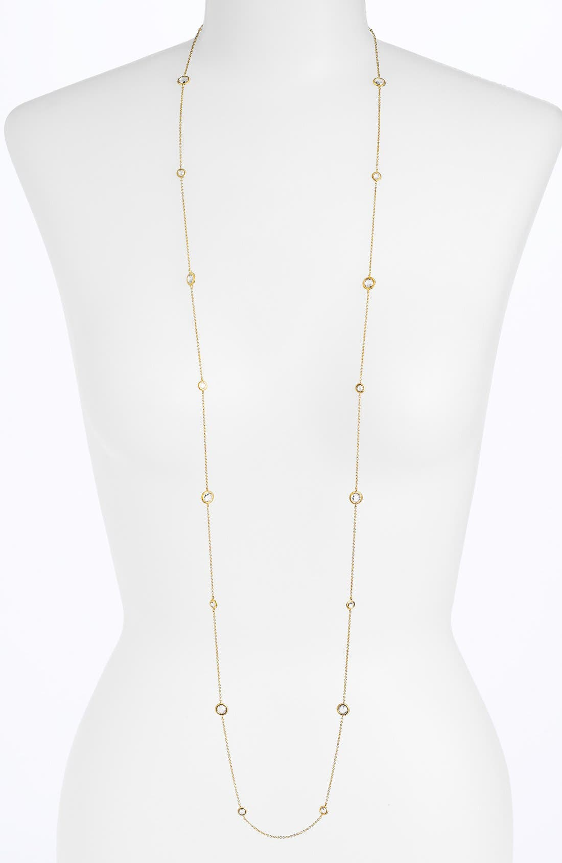 Main Image - Nadri Long Bezel Station Necklace (Nordstrom Exclusive)
