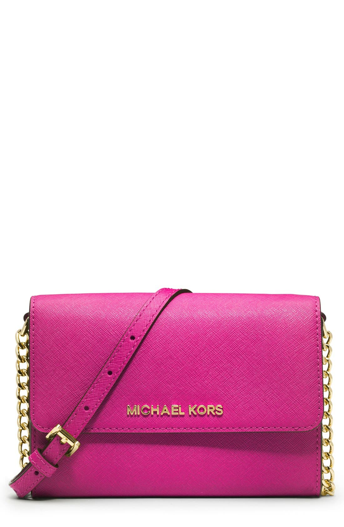 Alternate Image 1 Selected - MICHAEL Michael Kors 'Jet Set - Large Phone' Saffiano Leather Crossbody Bag