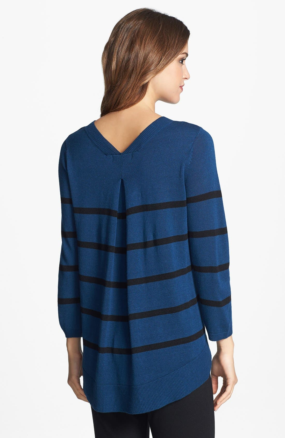 Alternate Image 2  - Two by Vince Camuto Stripe Split Neck Sweater