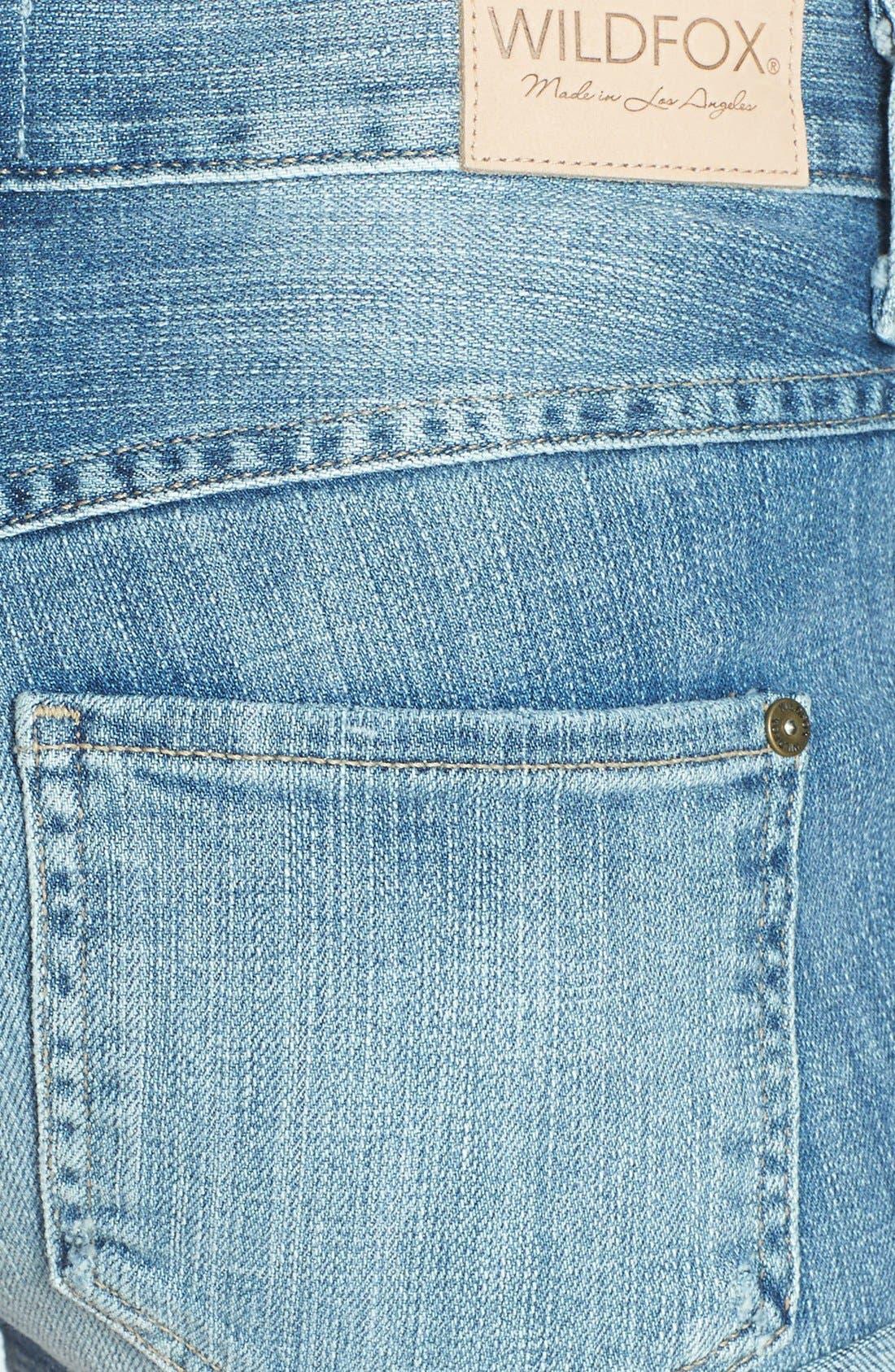 Alternate Image 3  - Wildfox 'Michelle' Cutoff Denim Shorts (Taken)