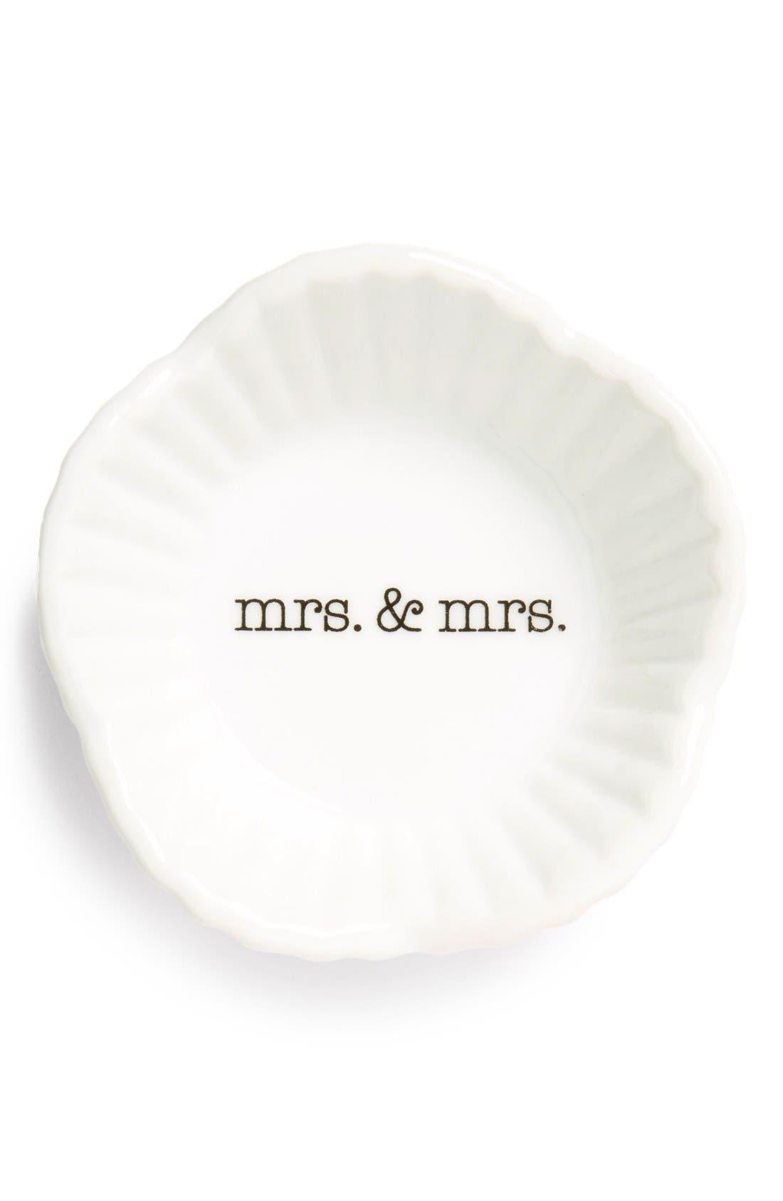 Alternate Image 1 Selected - Rosanna 'Mrs. & Mrs.' Porcelain Trinket Dish