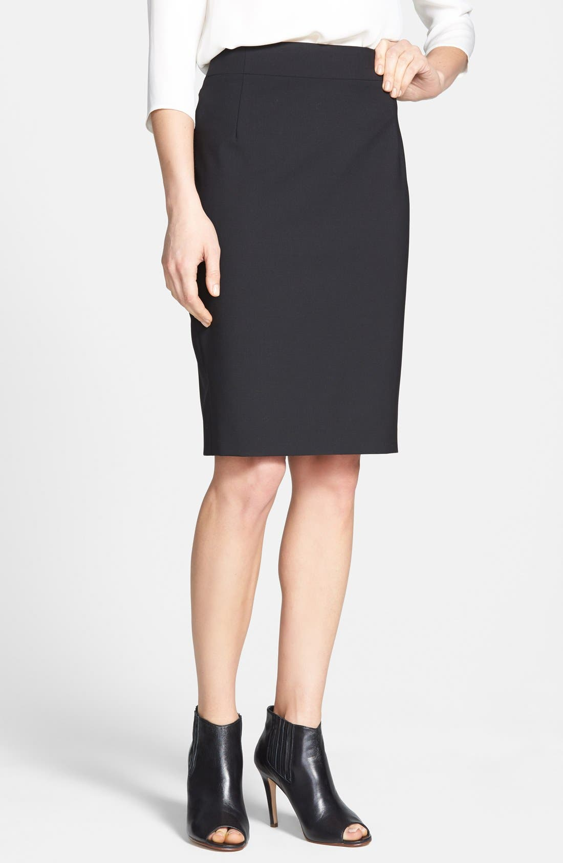 Main Image - Theory 'Joanie' Stretch Wool Pencil Skirt
