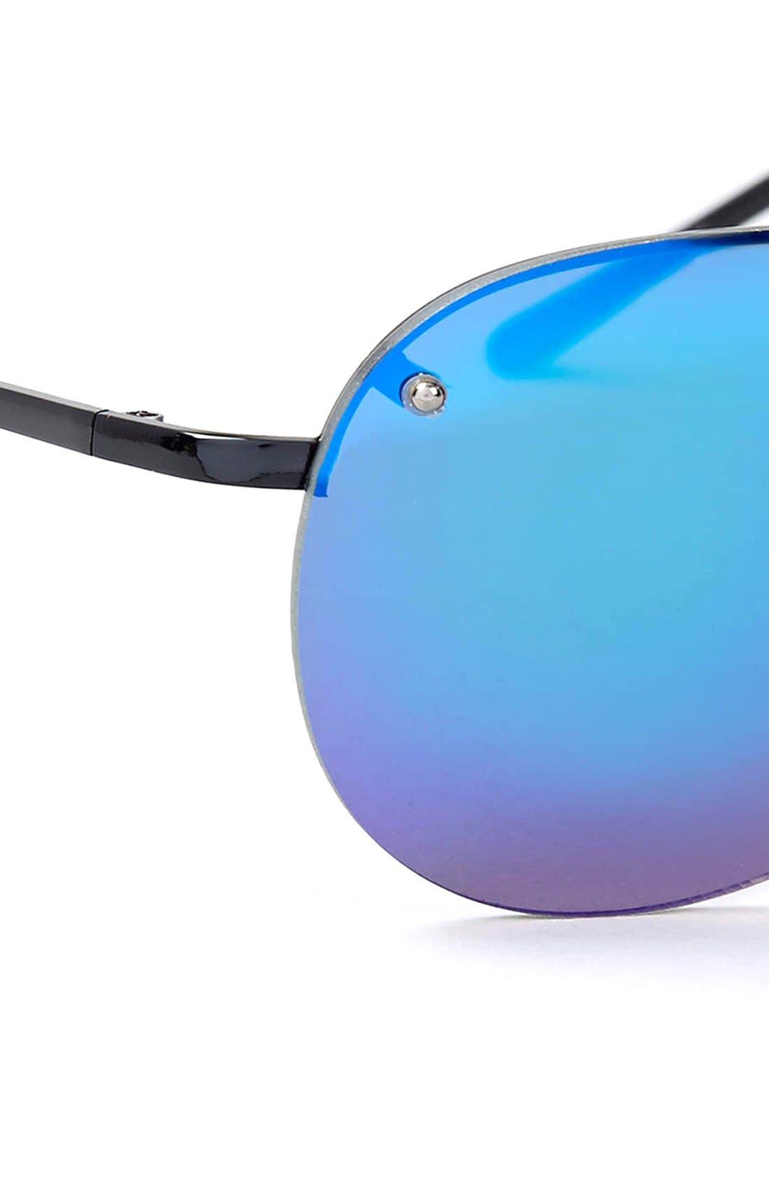 Alternate Image 2  - Topman 58mm Frameless Aviator Sunglasses