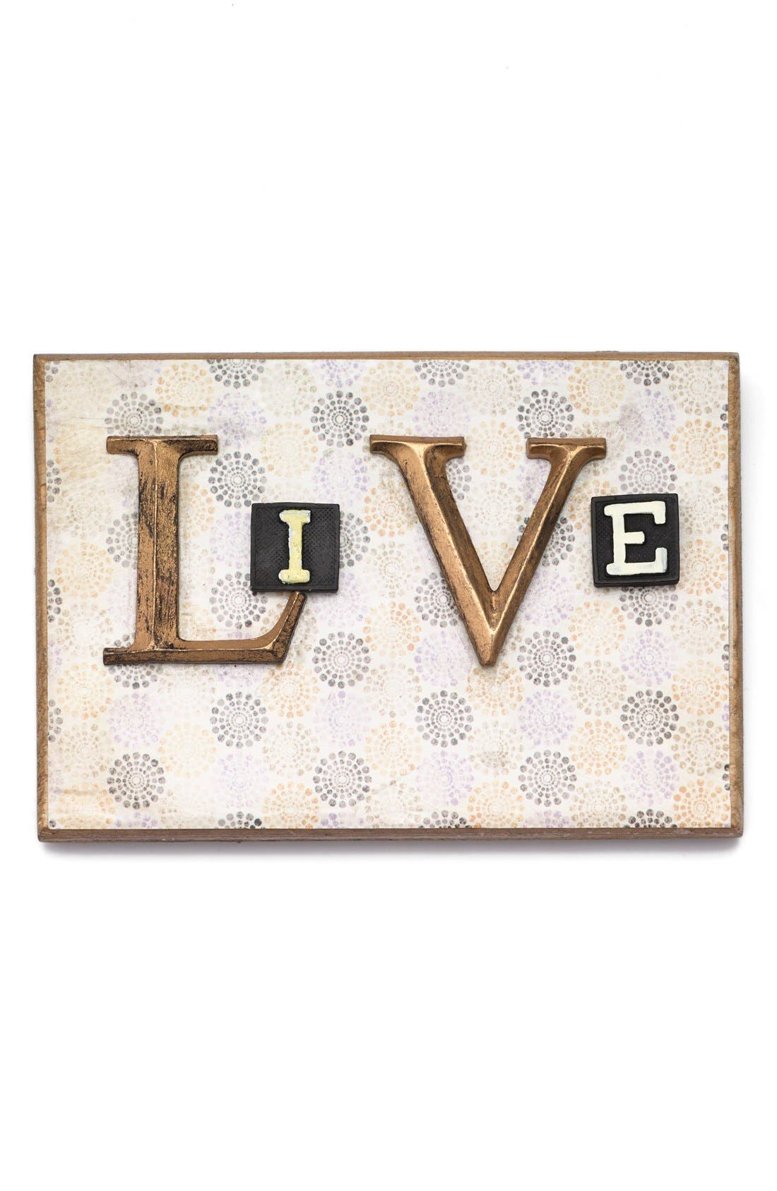 Alternate Image 1 Selected - Creative Co-Op 'Live' Embellished Wooden Wall Art
