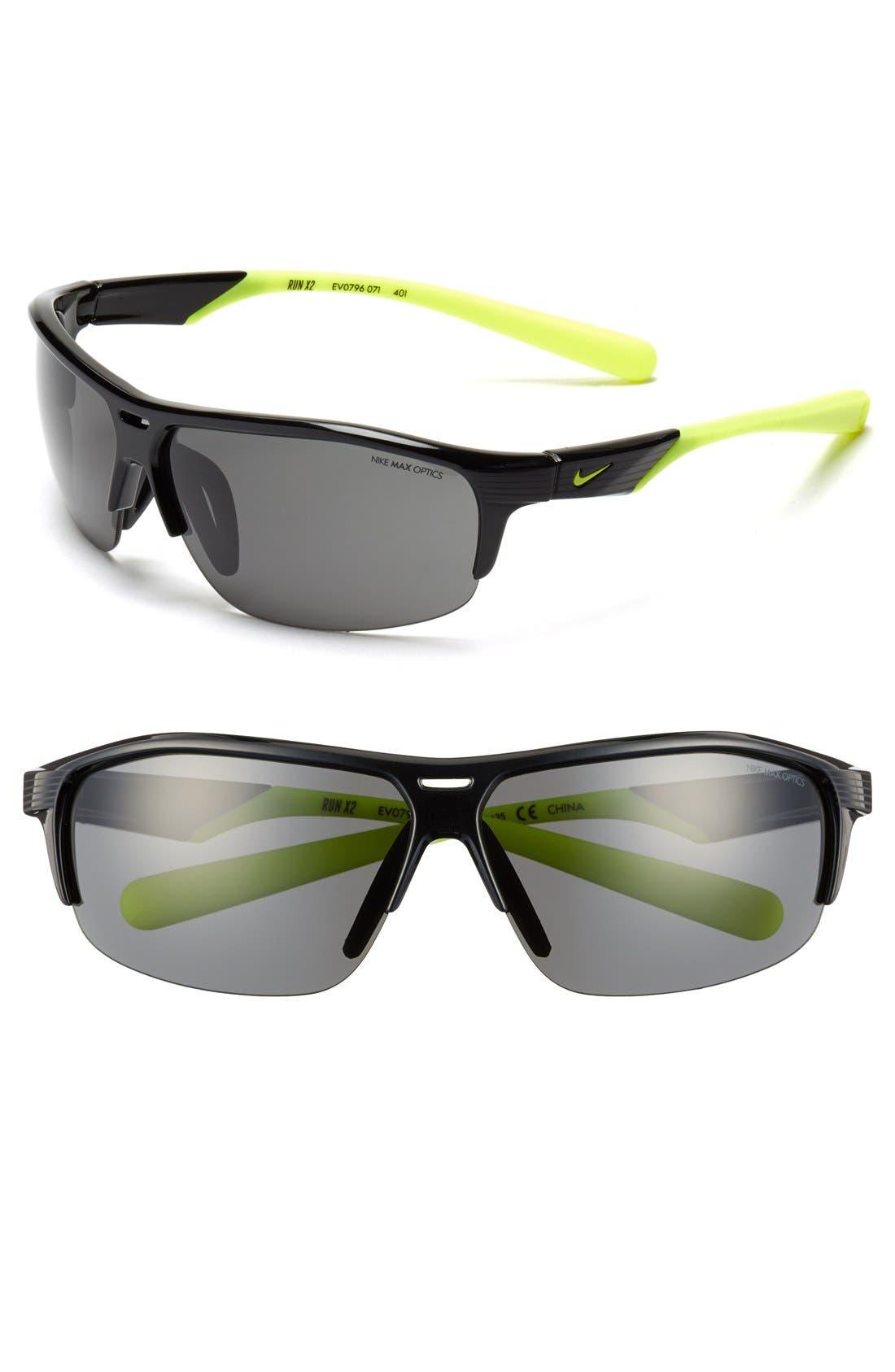 Alternate Image 1 Selected - Nike 'Run X2' 72mm Sunglasses