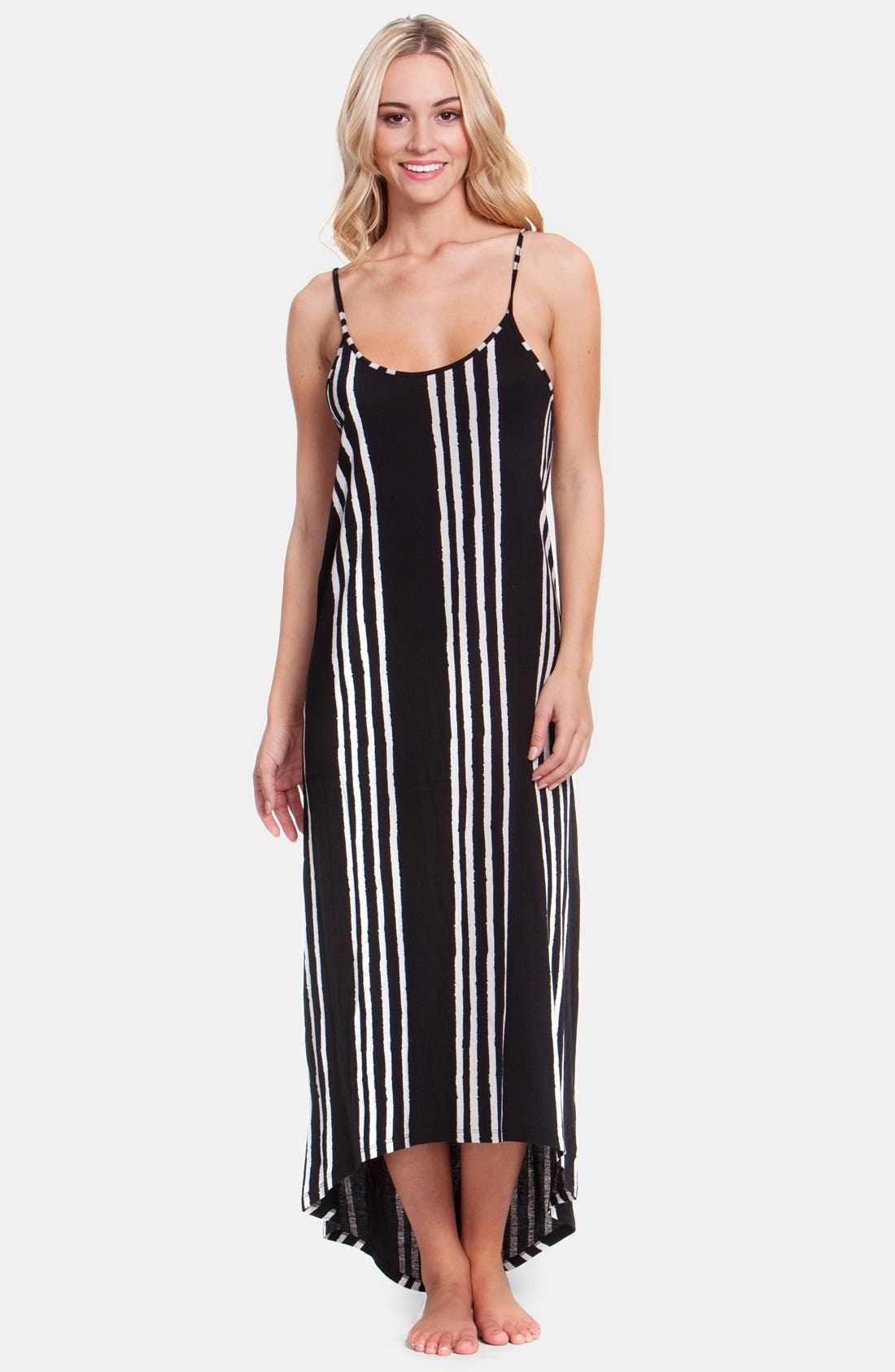 Alternate Image 1 Selected - Rip Curl 'Shifting Stripes' High/Low Maxi Dress (Juniors)