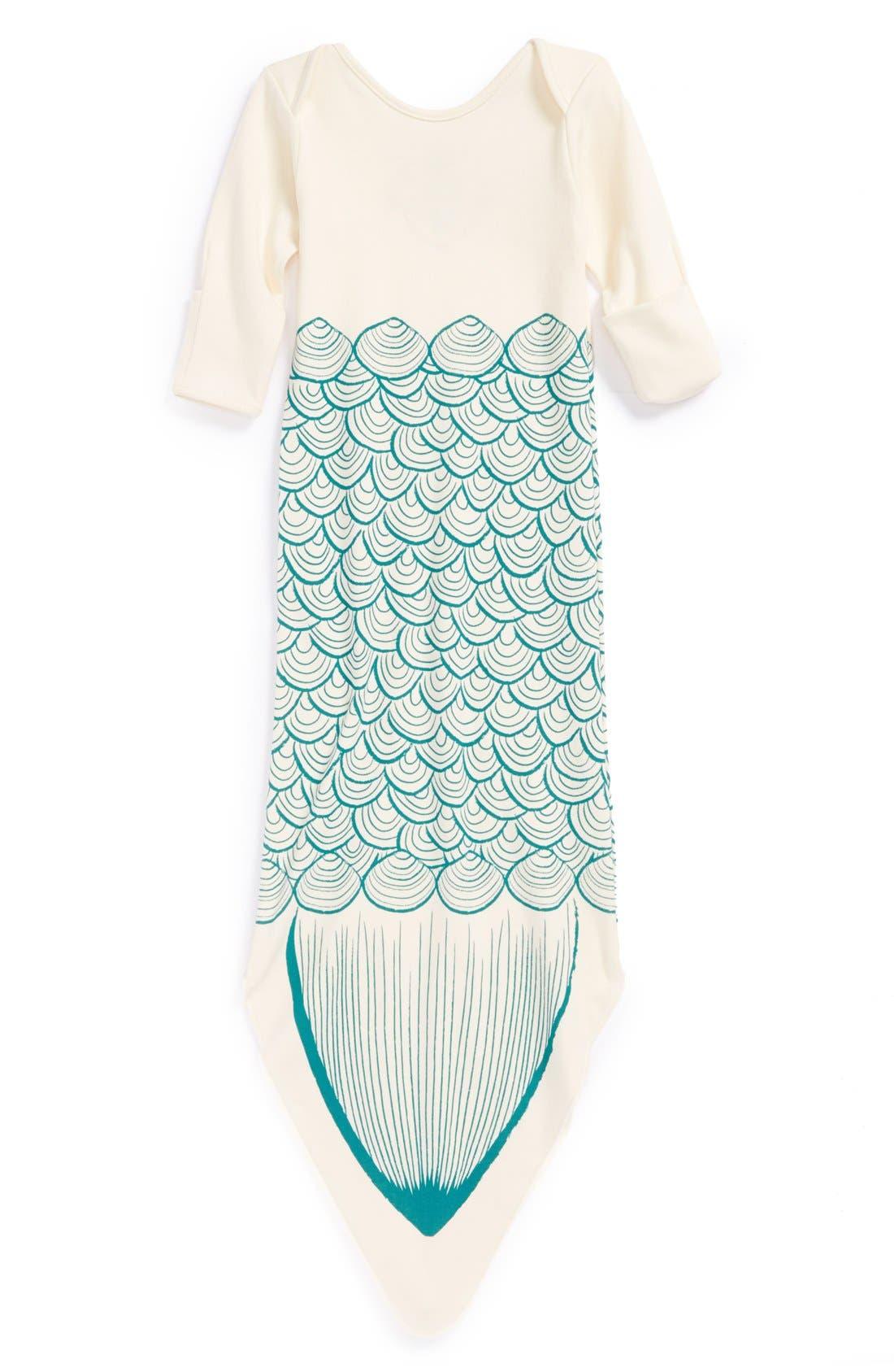 Alternate Image 2  - Electrik Kidz 'Mermaid' Organic Cotton Gown (Baby Girls)