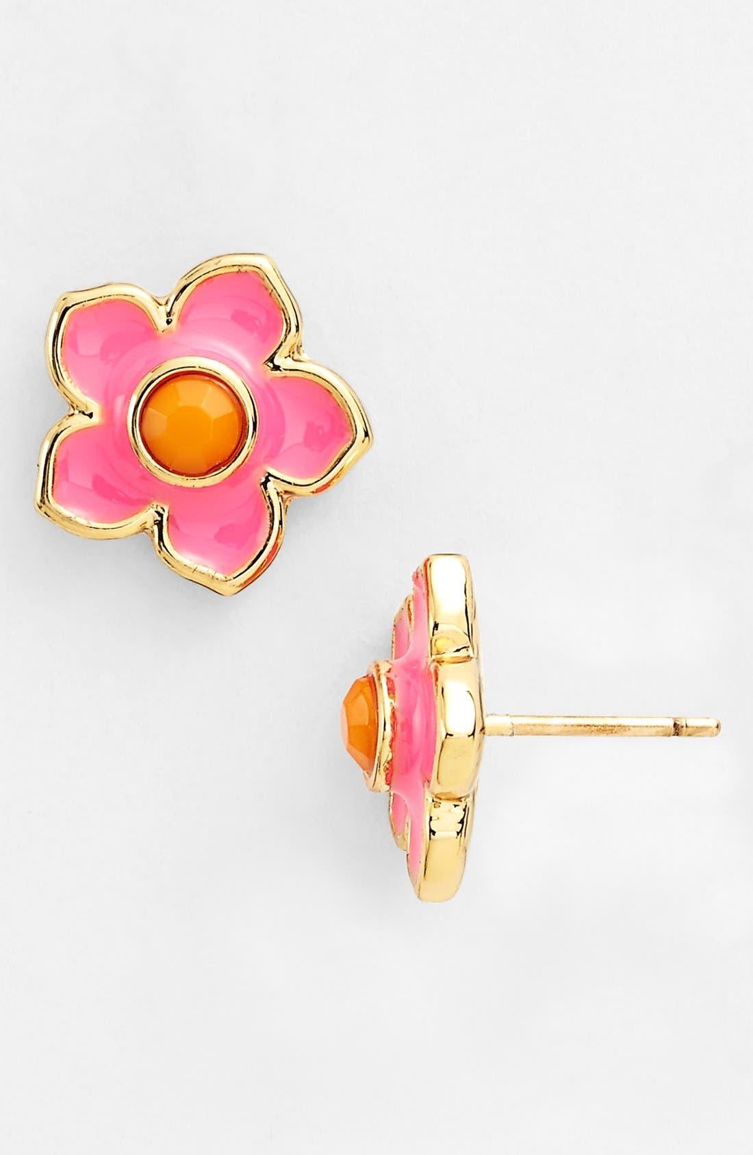 Alternate Image 1 Selected - kate spade new york 'tropical floral' enamel stud earrings